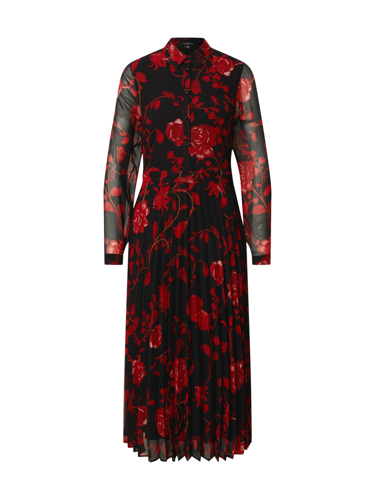 COMMA Palaidinės tipo suknelė raudona / juoda
