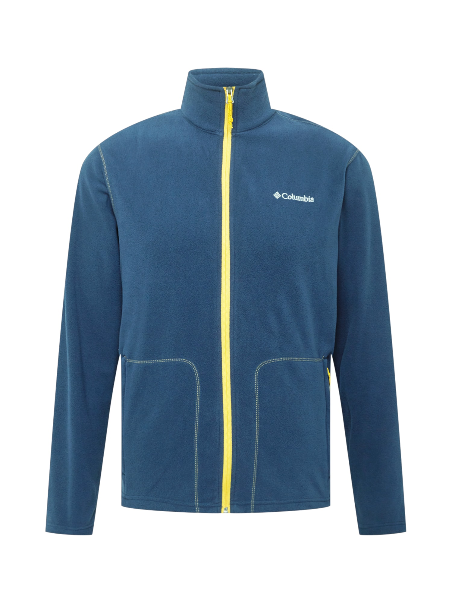 COLUMBIA Flisinis džemperis tamsiai mėlyna / geltona