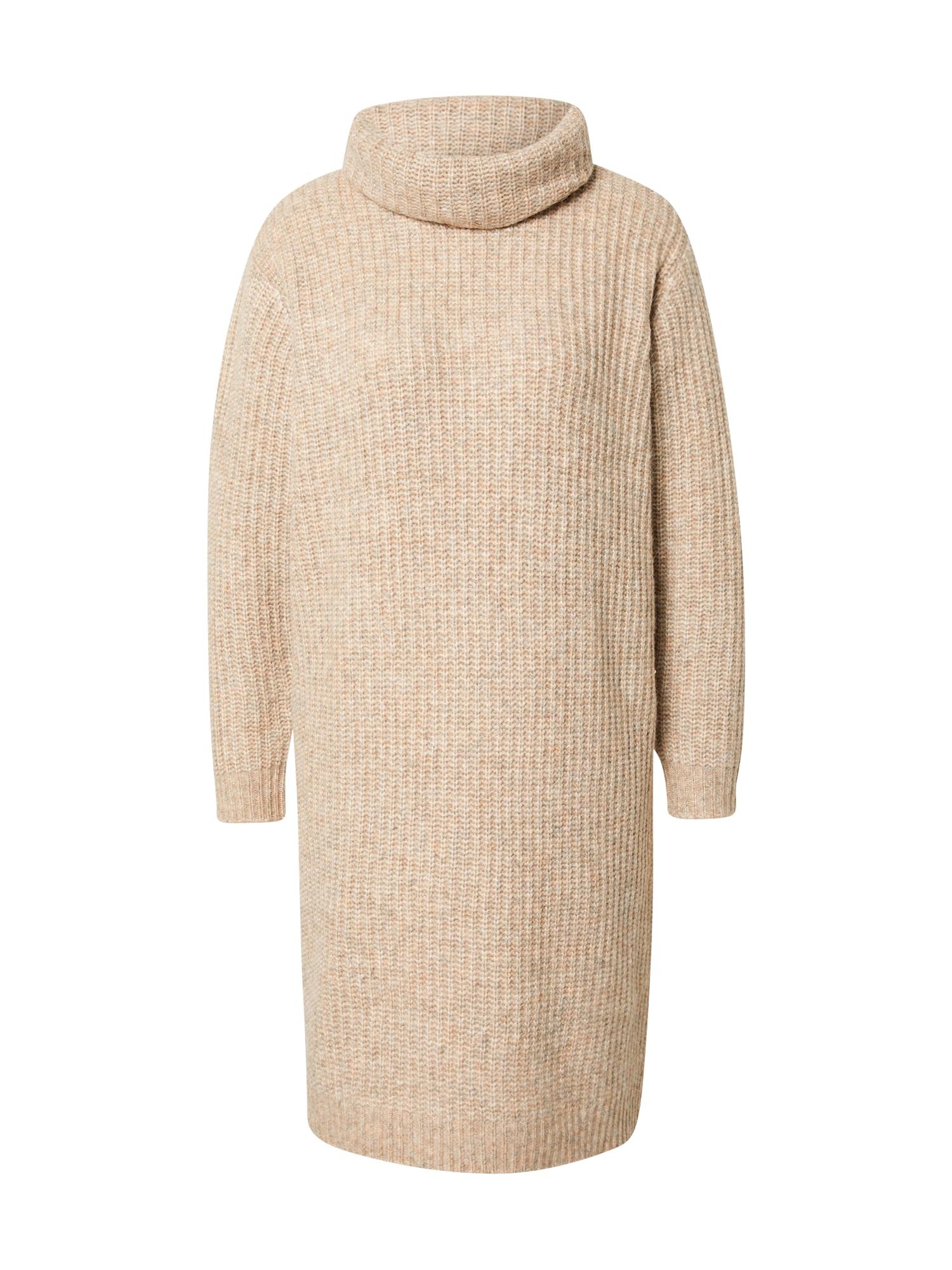SAINT TROPEZ Úpletové šaty 'Ivonna'  béžová