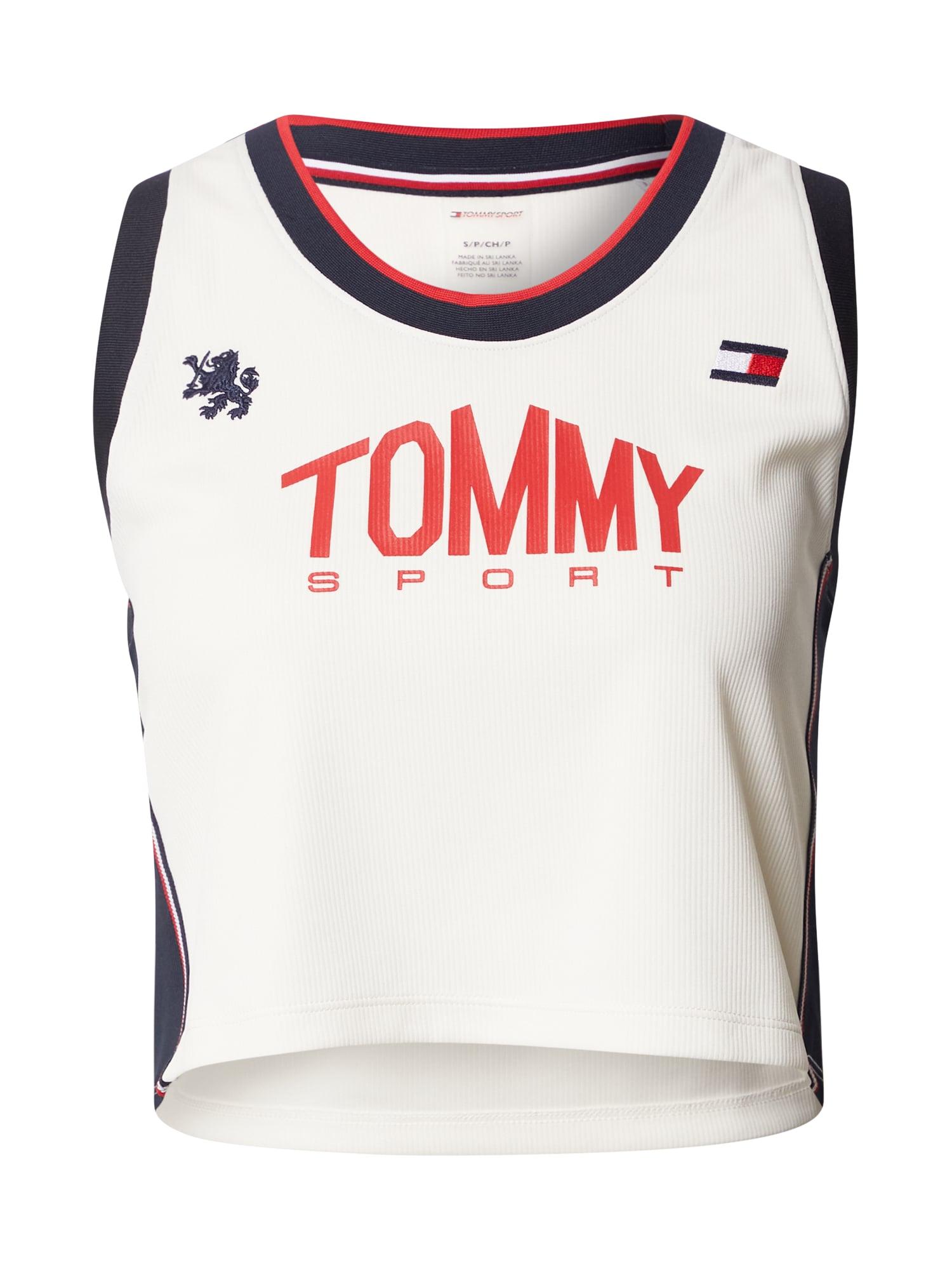 Tommy Sport Sportovní top  červená / bílá