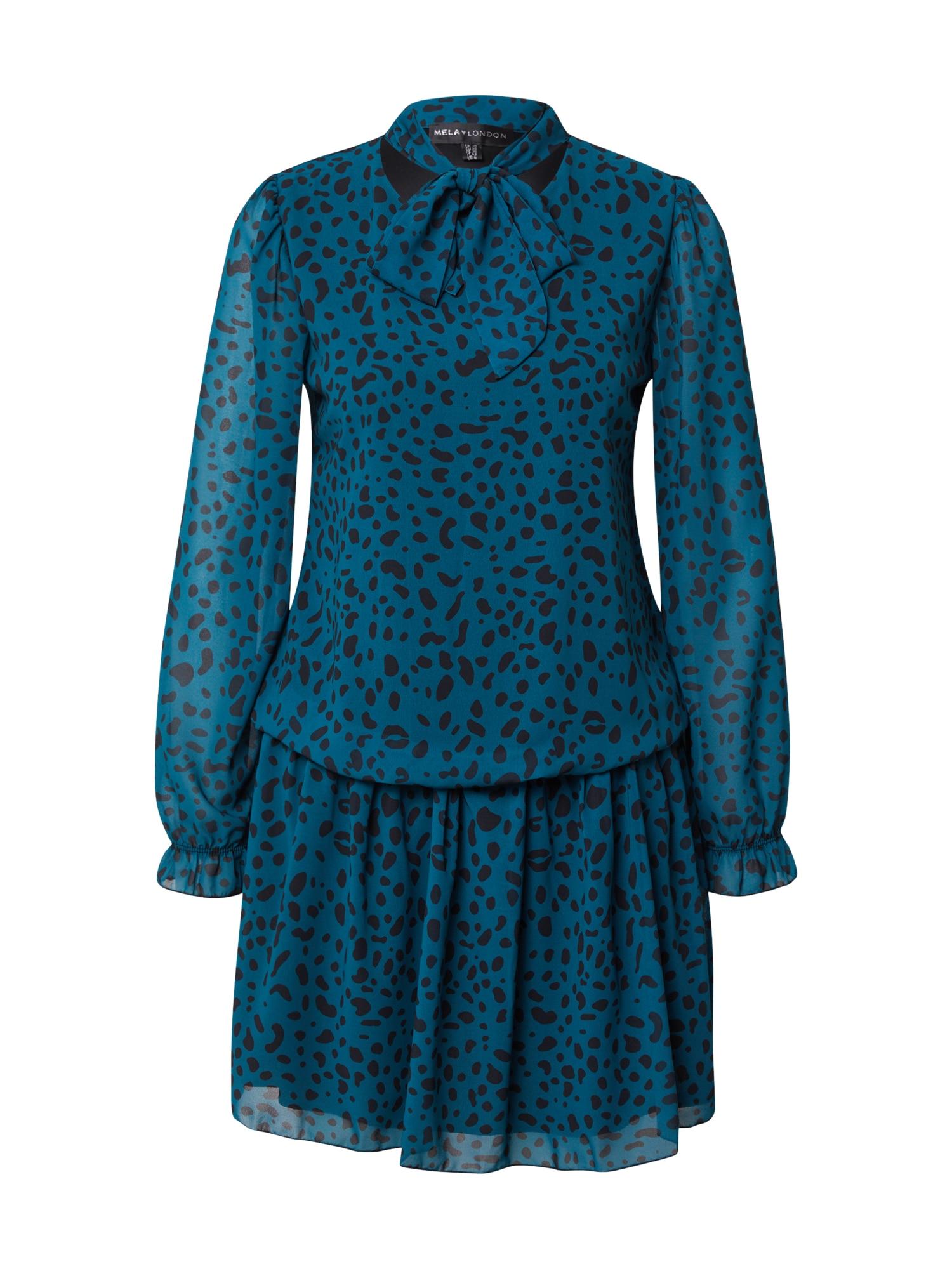 Mela London Suknelė pastelinė mėlyna / nakties mėlyna