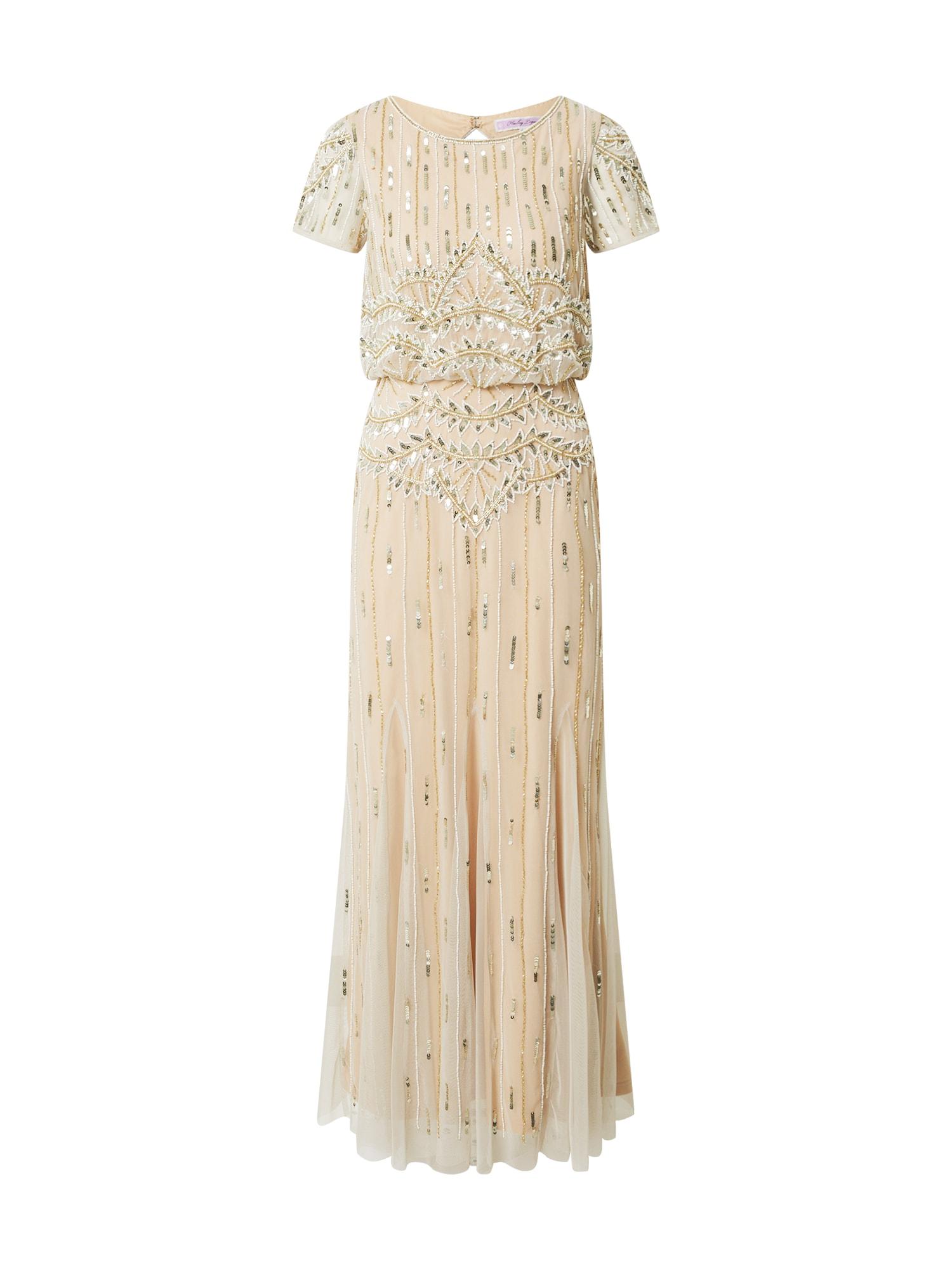 Hailey Logan Suknelė sidabrinė / kūno spalva