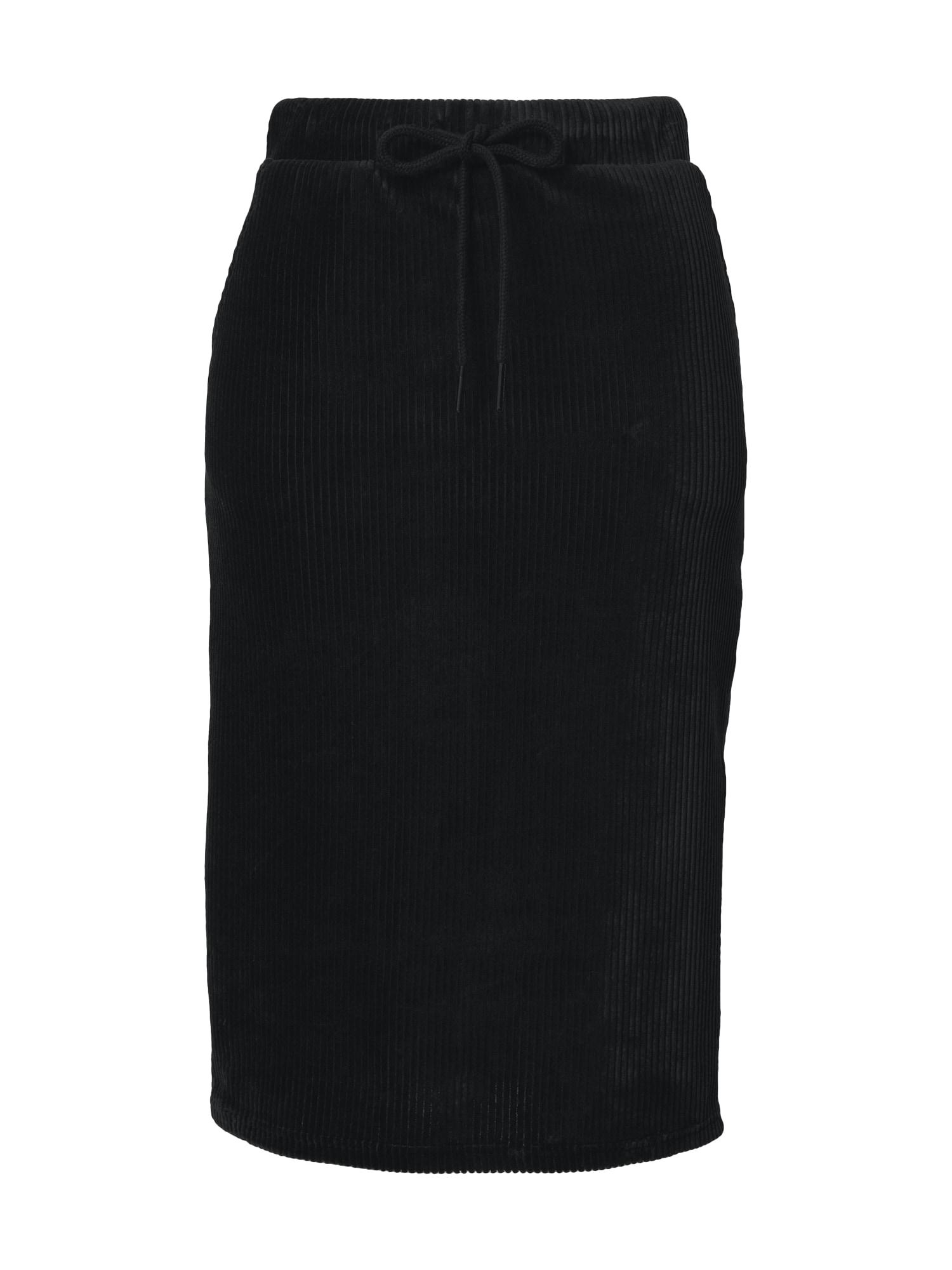 PIECES Sukně  černá
