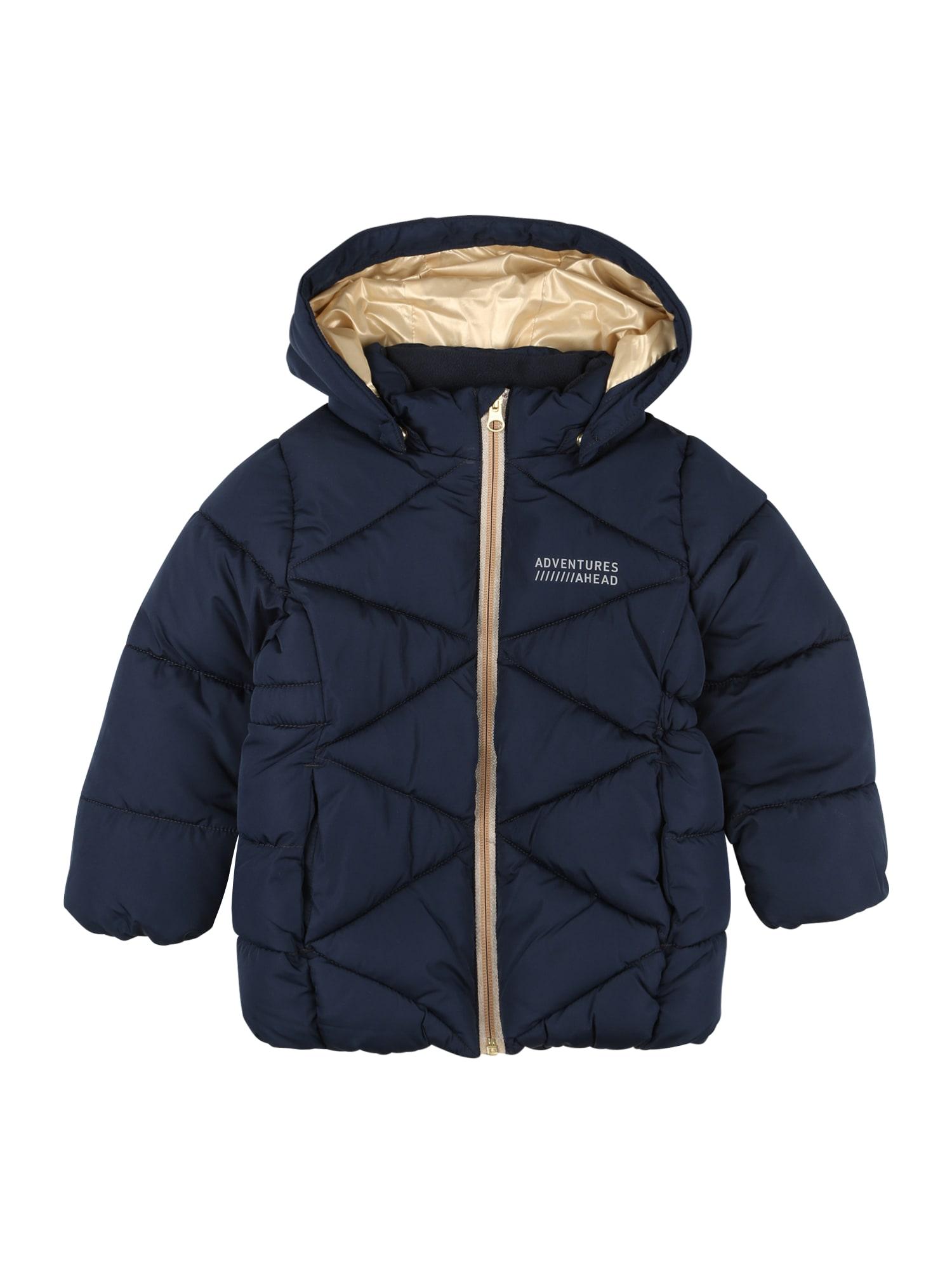 NAME IT Zimní bunda 'Milton'  námořnická modř / bílá