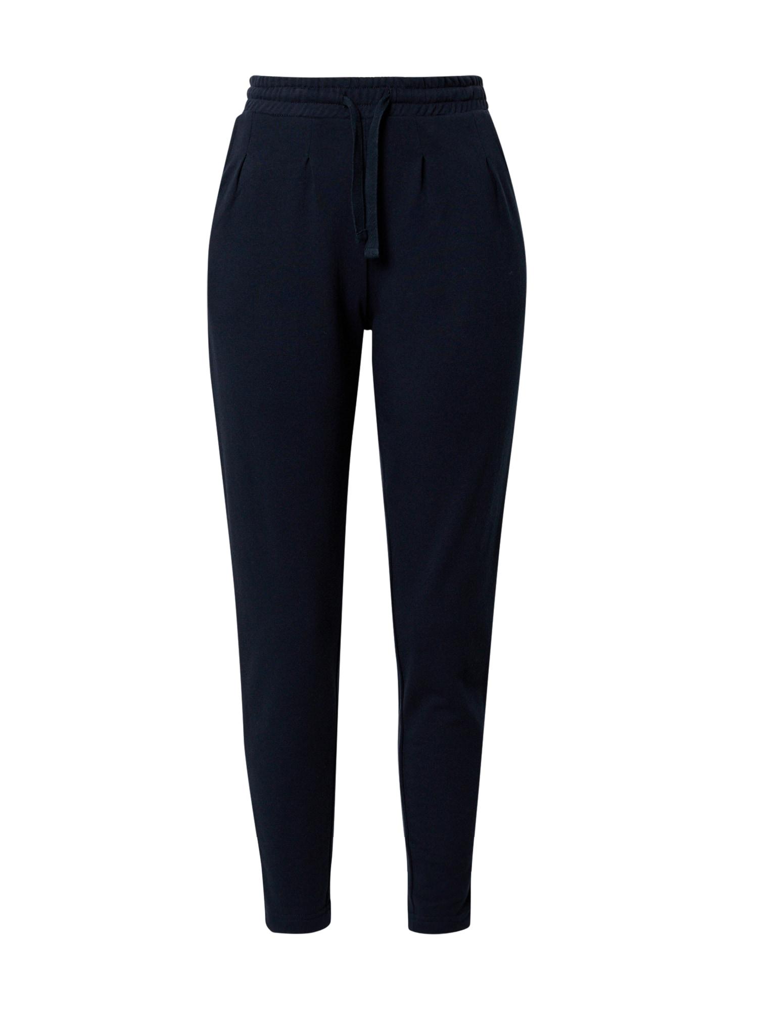 NÜMPH Kalhoty se sklady v pase 'Nikola'  námořnická modř
