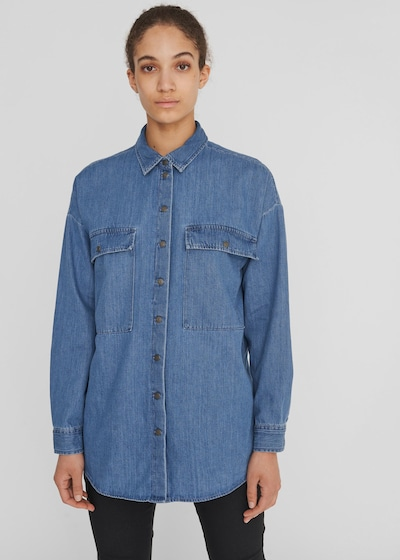 Noisy May Flanny Langärmelige Denim-Shirtjacke