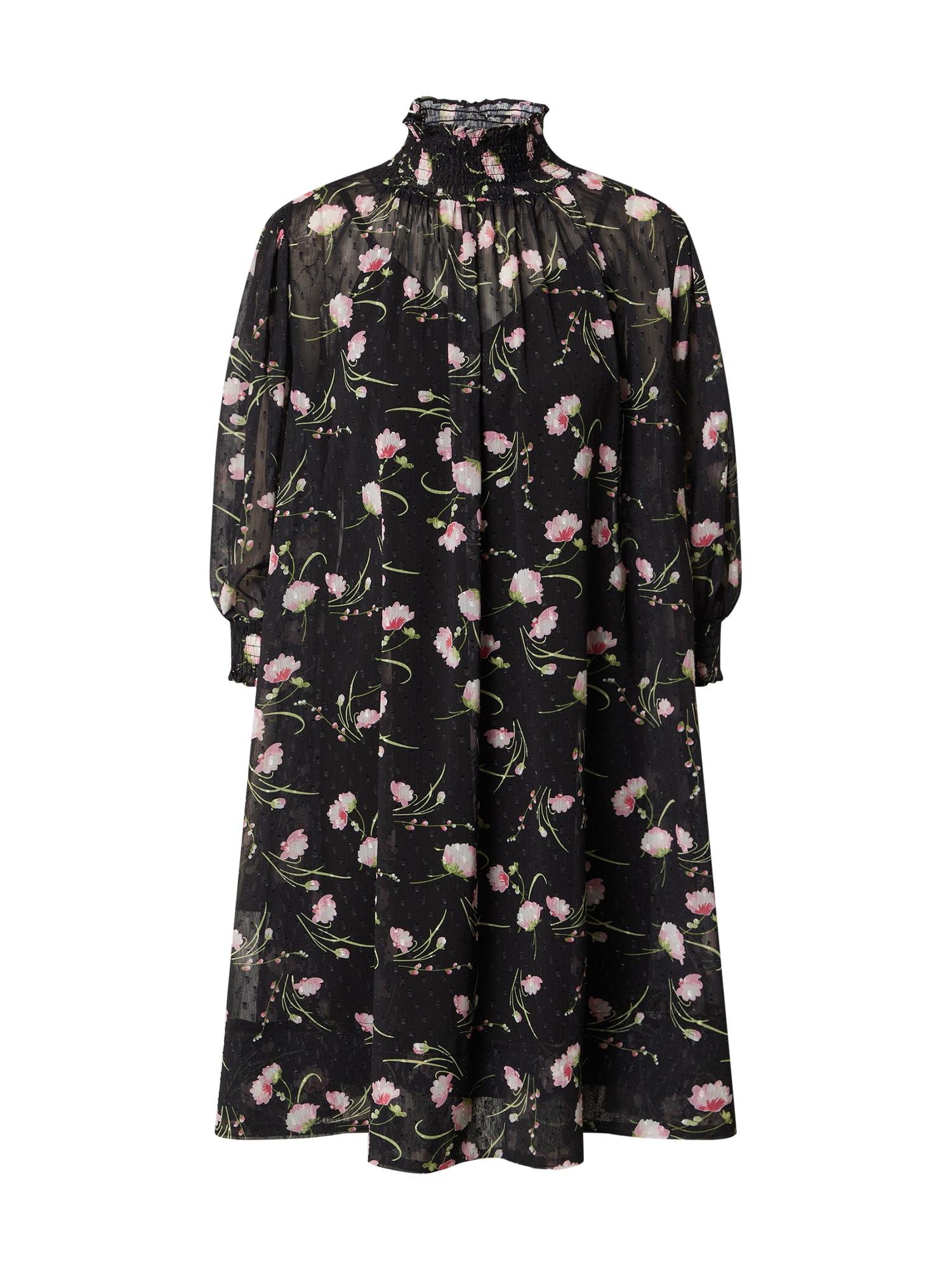 Forever Unique Suknelė juoda / rožių spalva / balta / žalia