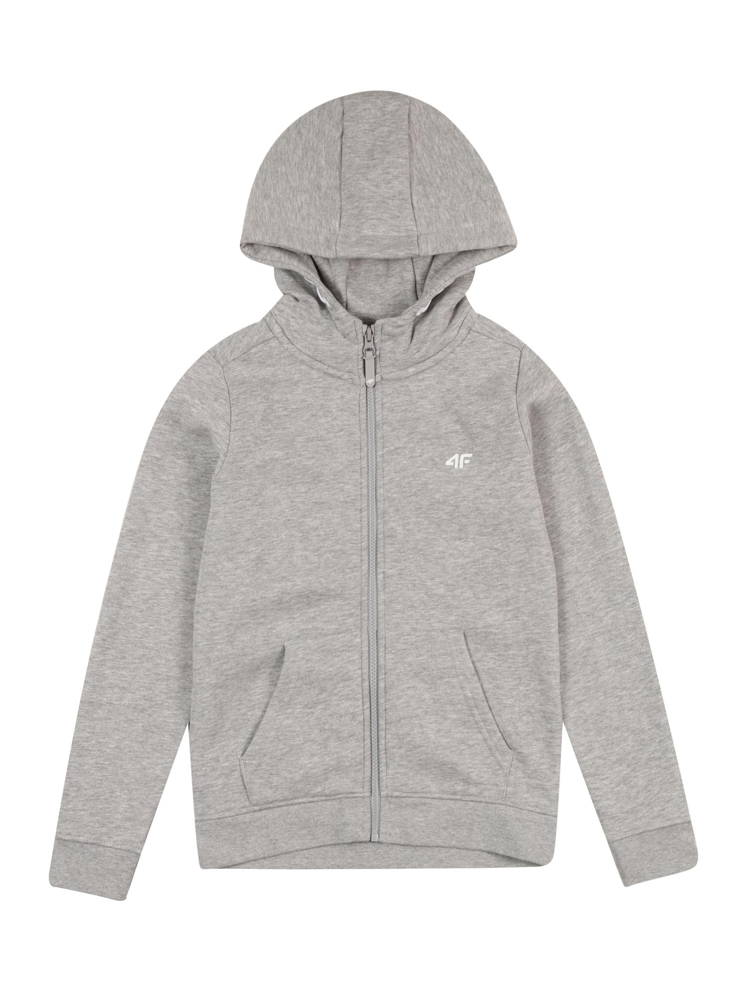 4F Sportinis džemperis margai pilka