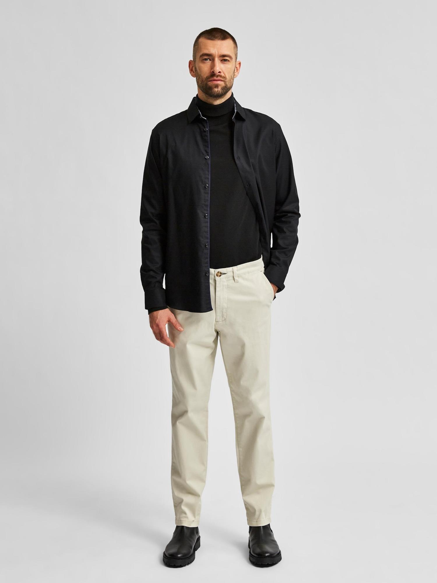SELECTED HOMME Chino nohavice 'Miles'  svetlobéžová.
