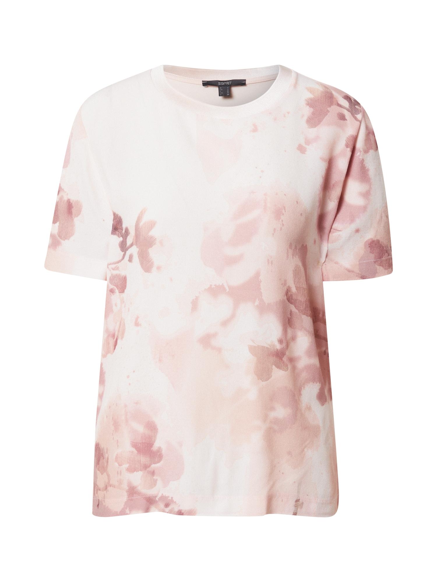 Esprit Collection Marškinėliai pastelinė rožinė / rožinė / ryškiai rožinė spalva
