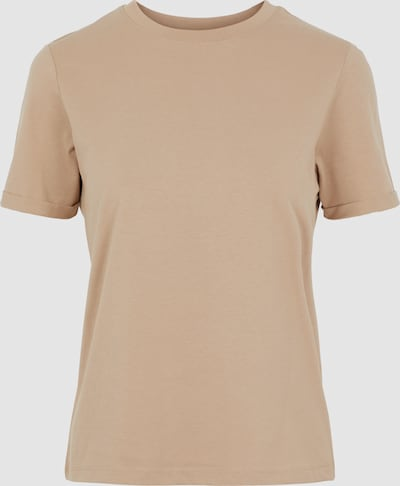 Pieces Ria Basic-T-Shirt mit kurzen, umgeschlagenen Ärmeln