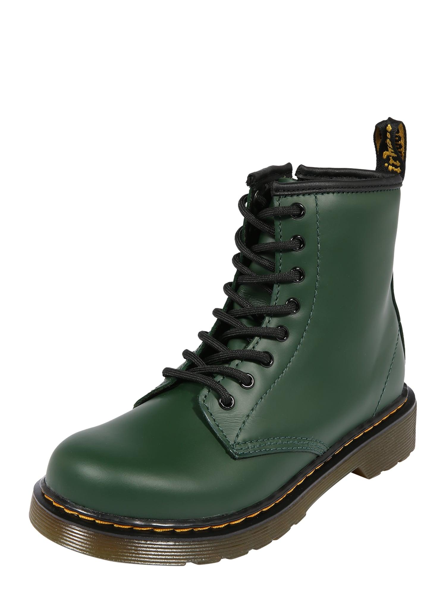 Dr. Martens Auliniai tamsiai žalia / juoda / geltona