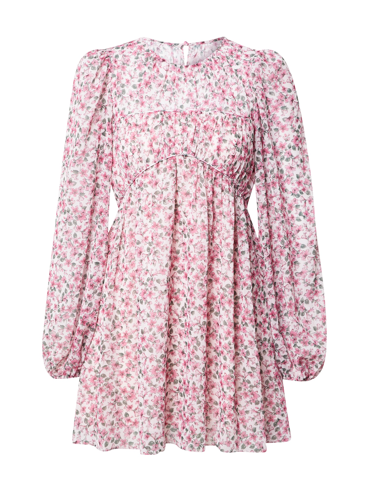 Forever New Šaty  tmavě zelená / pink / bílá