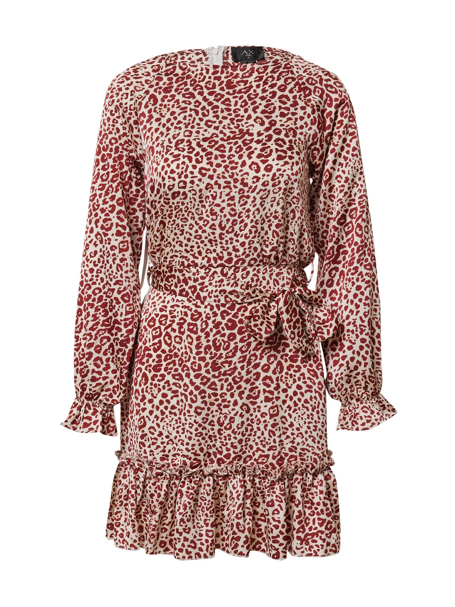 AX Paris Suknelė raudona / balta