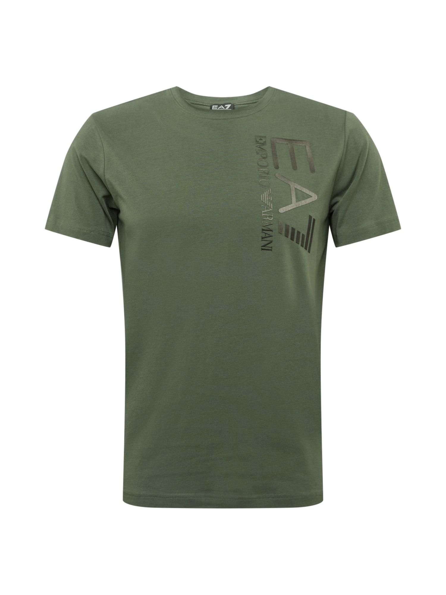 EA7 Emporio Armani Marškinėliai žalia / pilka