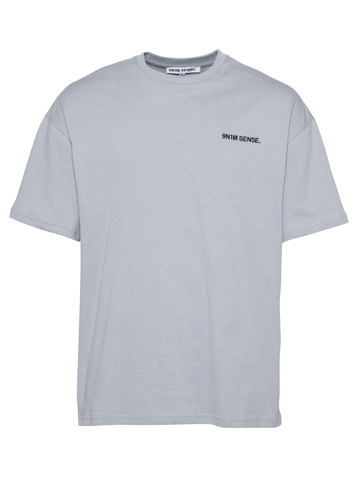 9N1M SENSE Marškinėliai pilka / juoda