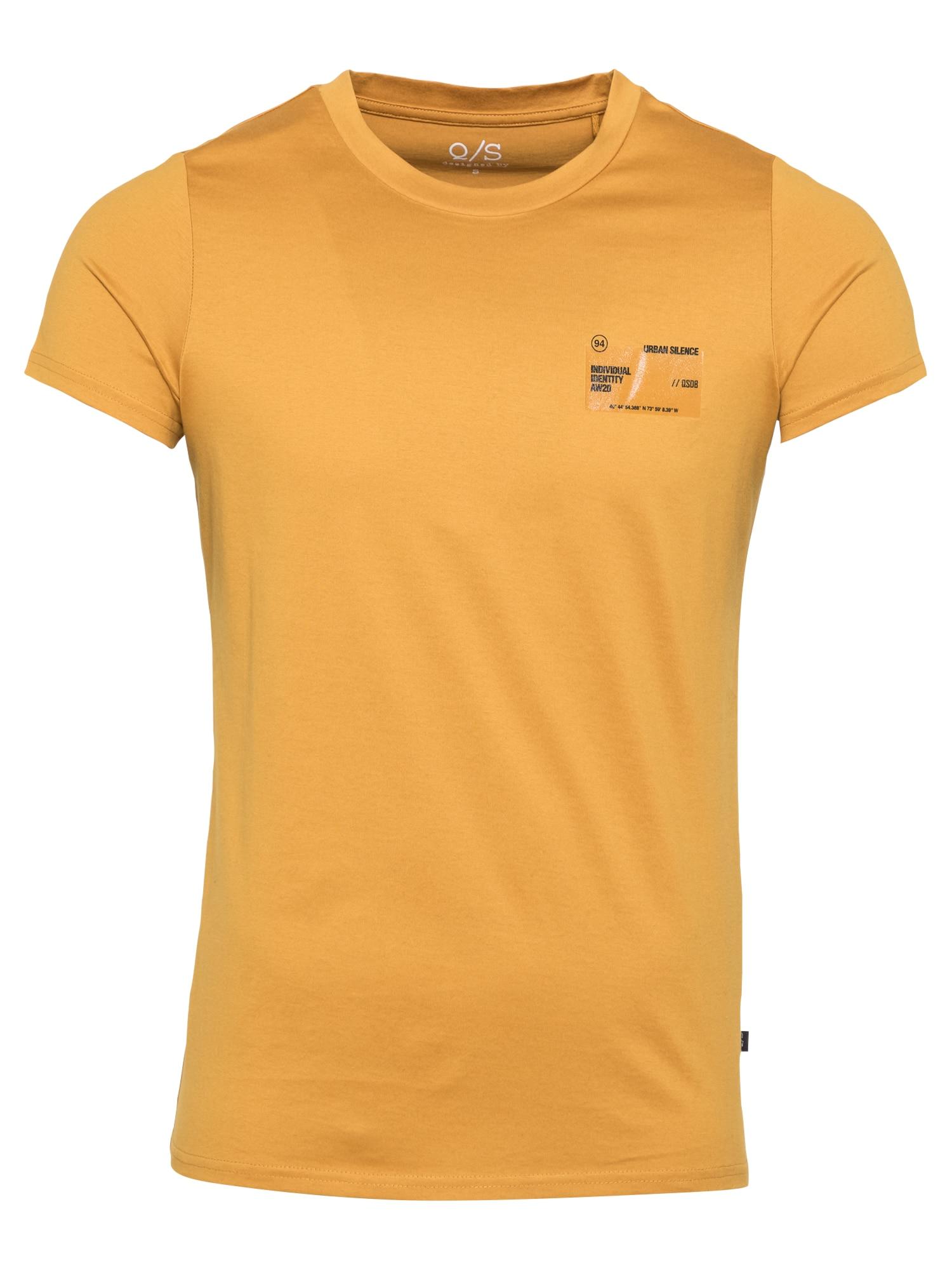 Q/S designed by Marškinėliai aukso geltonumo spalva / juoda