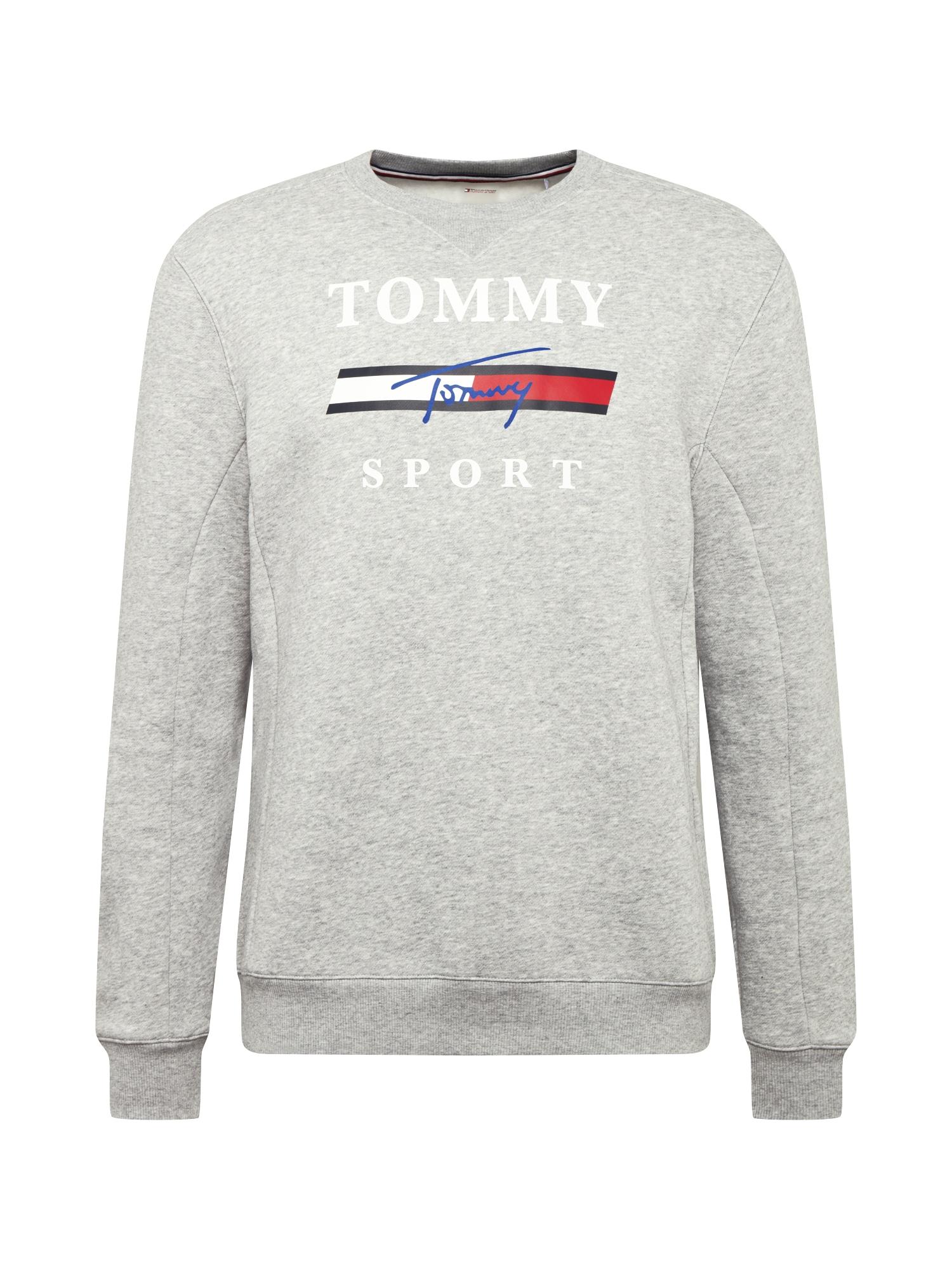 Tommy Sport Sportinio tipo megztinis balta / pilka / juoda / mėlyna / raudona
