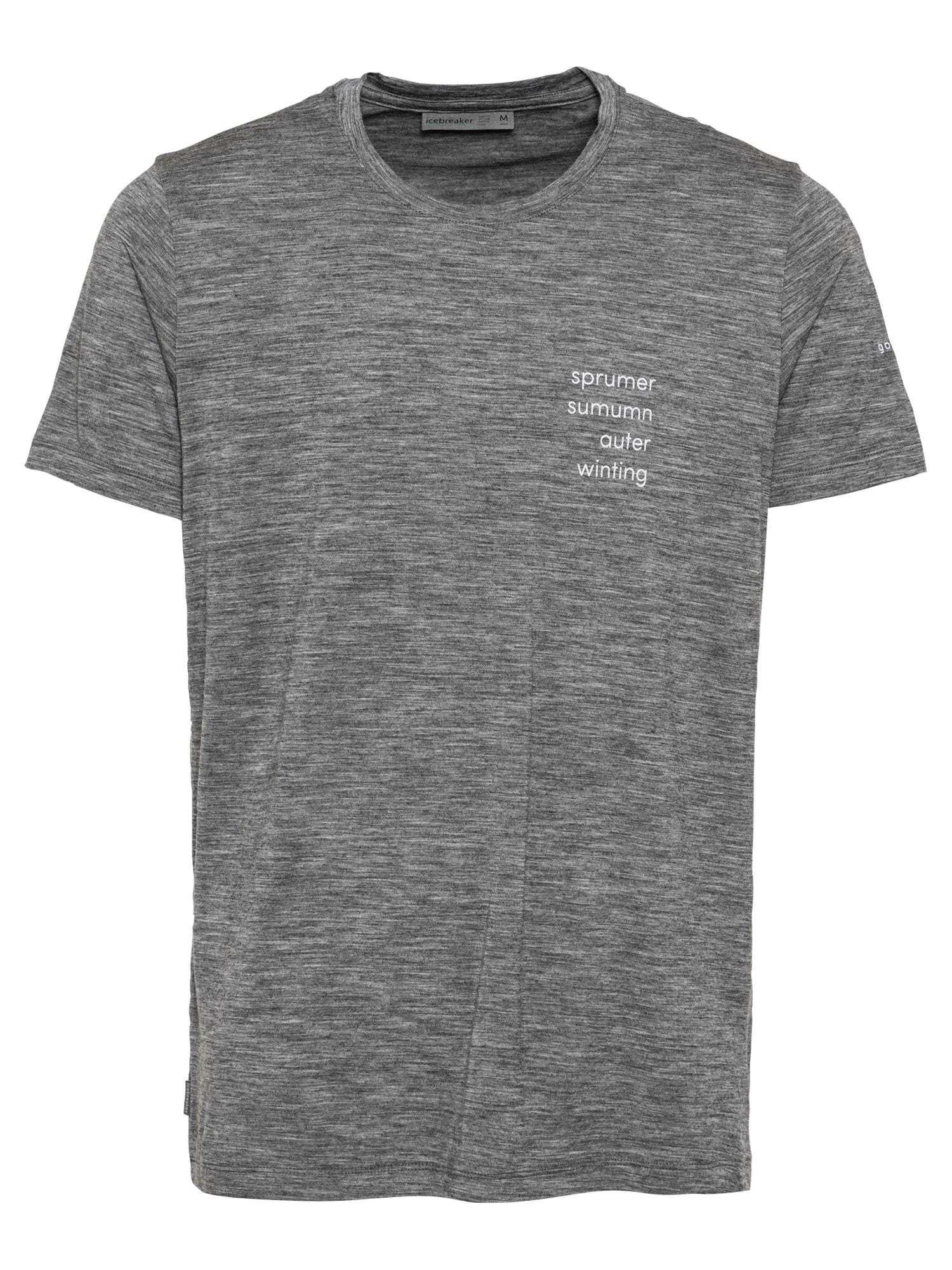 Icebreaker Sportiniai marškinėliai balta / margai pilka