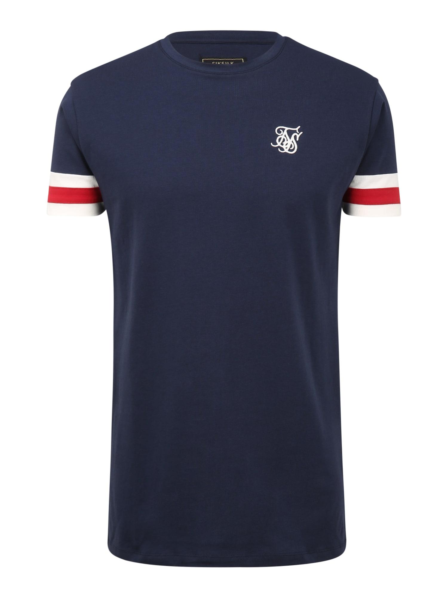 SikSilk Marškinėliai balkšva / raudona / tamsiai mėlyna