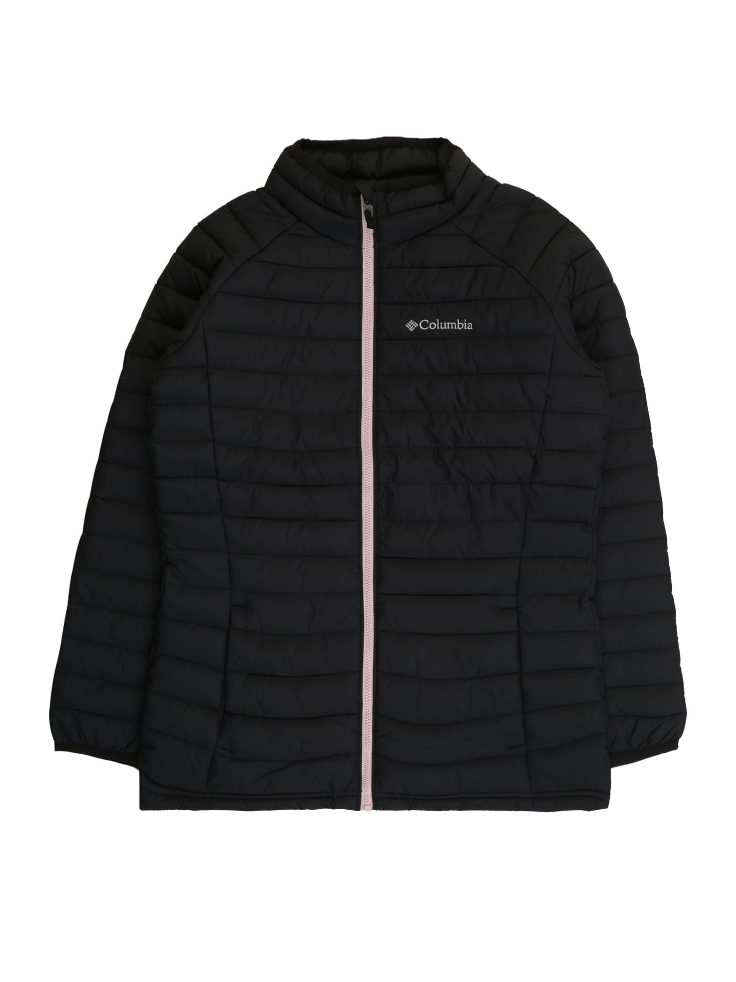 COLUMBIA Laisvalaikio striukė 'Powder Lite™' juoda / rožių spalva