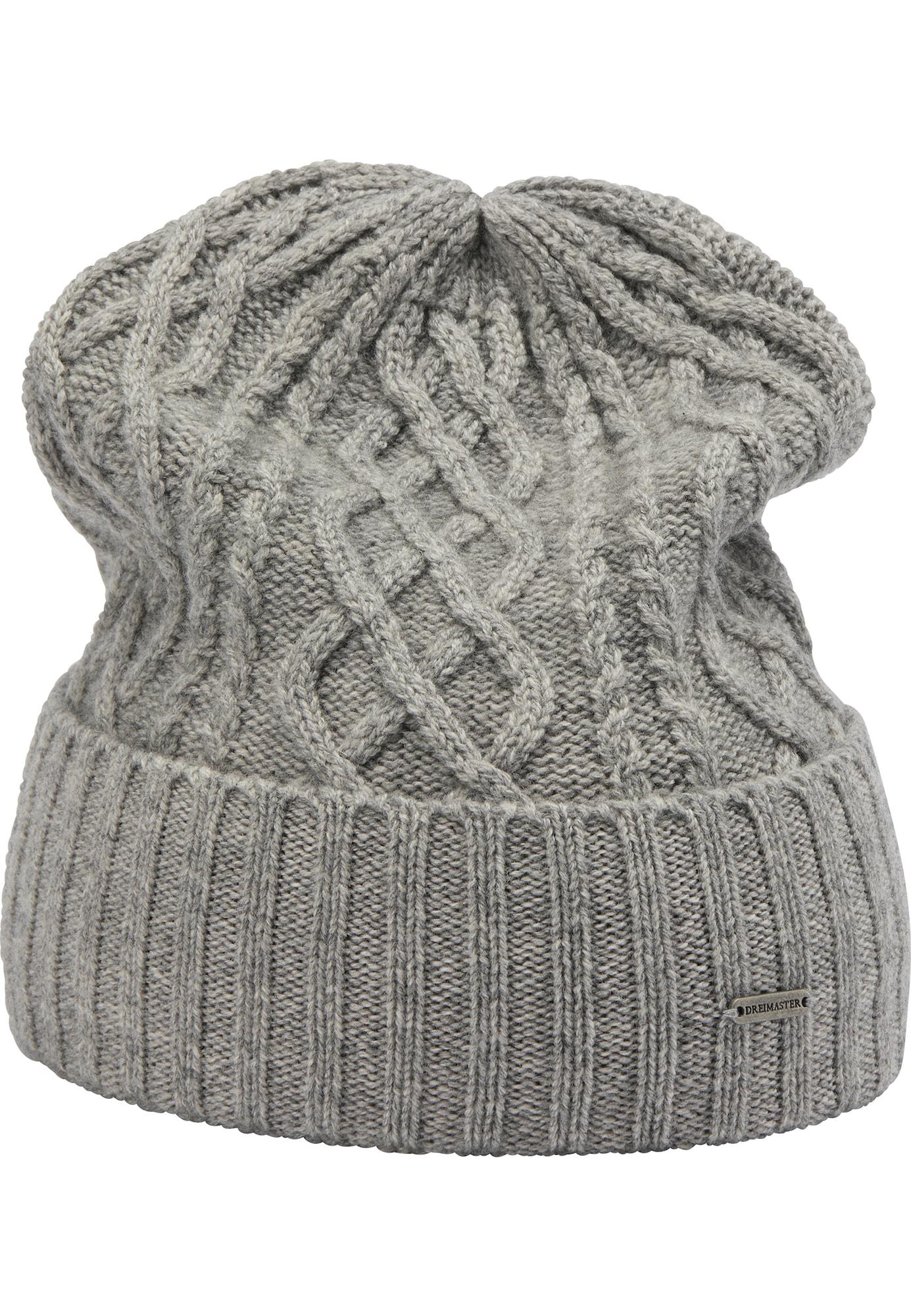 DreiMaster Klassik Megzta kepurė pilka