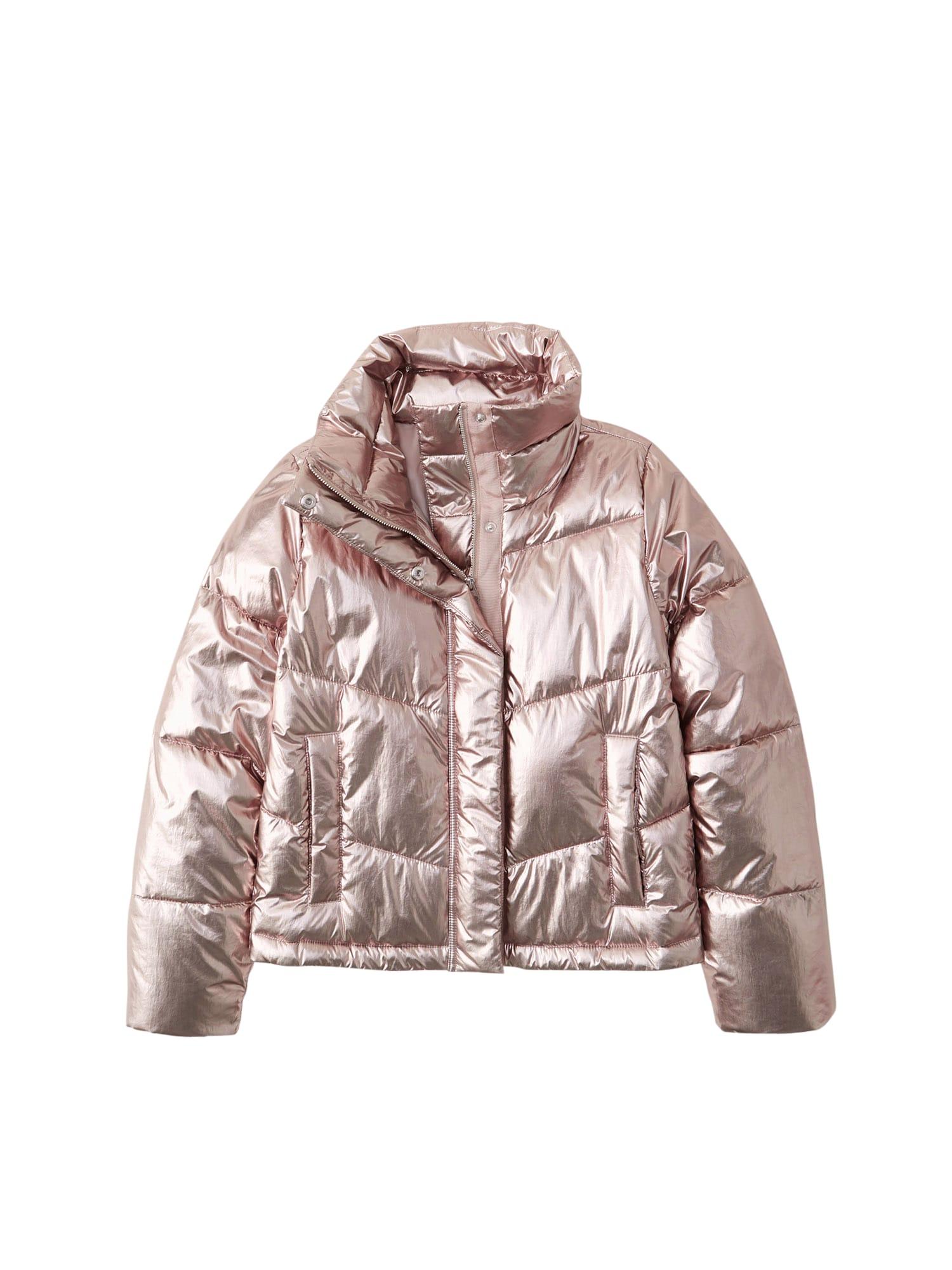 Abercrombie & Fitch Demisezoninė striukė rožinio aukso spalva