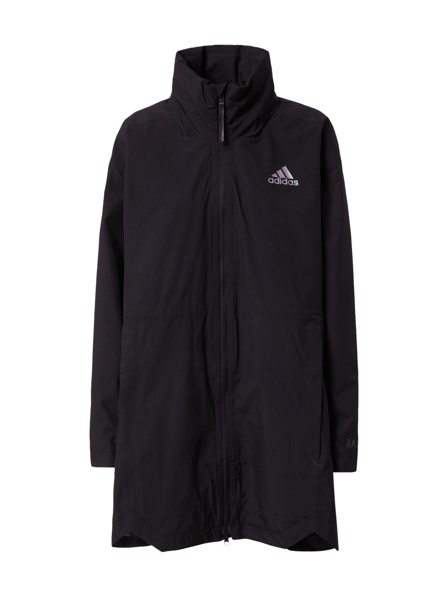 ADIDAS PERFORMANCE Outdoorová bunda 'Traveer'  černá / bílá