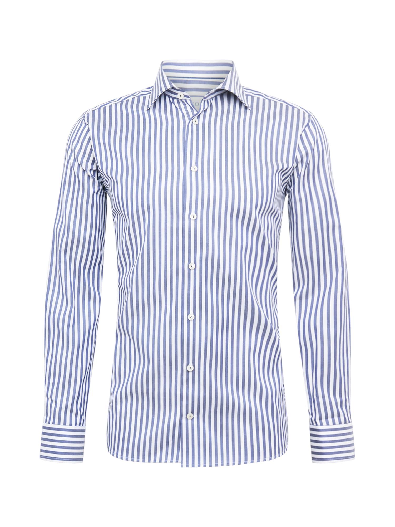 ETON Marškiniai balta / mėlyna
