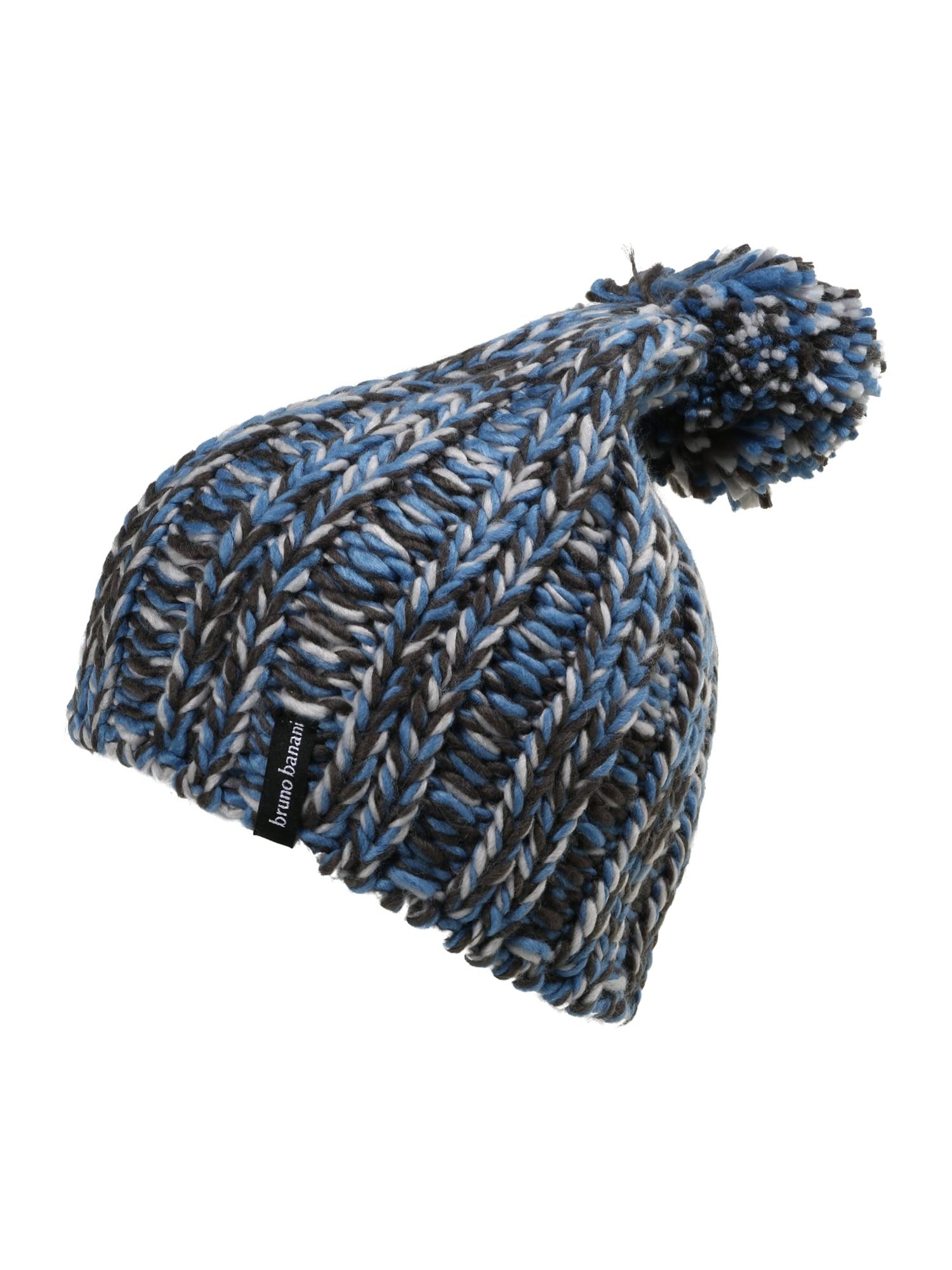 BRUNO BANANI Megzta kepurė mėlyna / balta / juoda