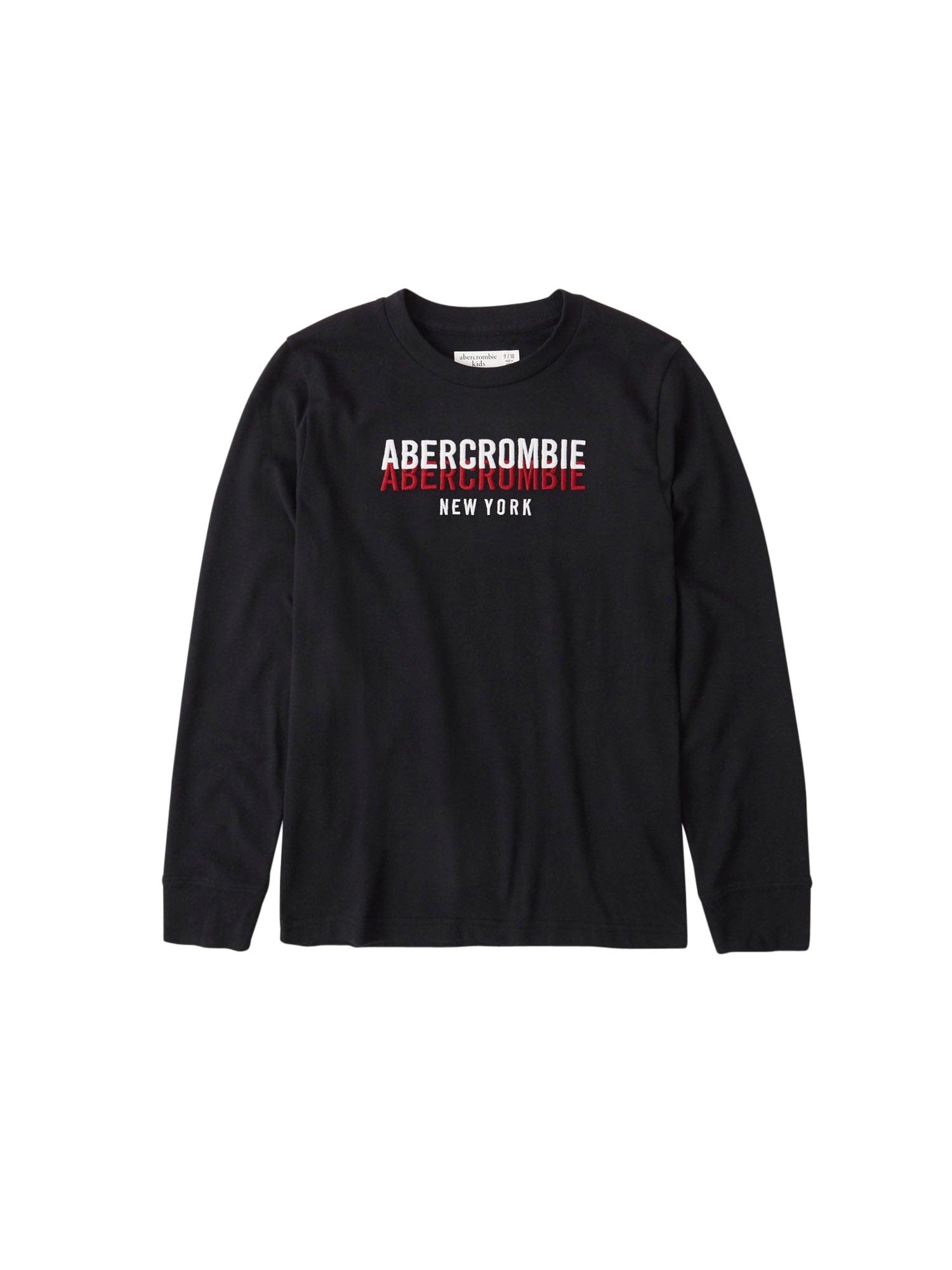 Abercrombie & Fitch Marškinėliai juoda / balta / raudona