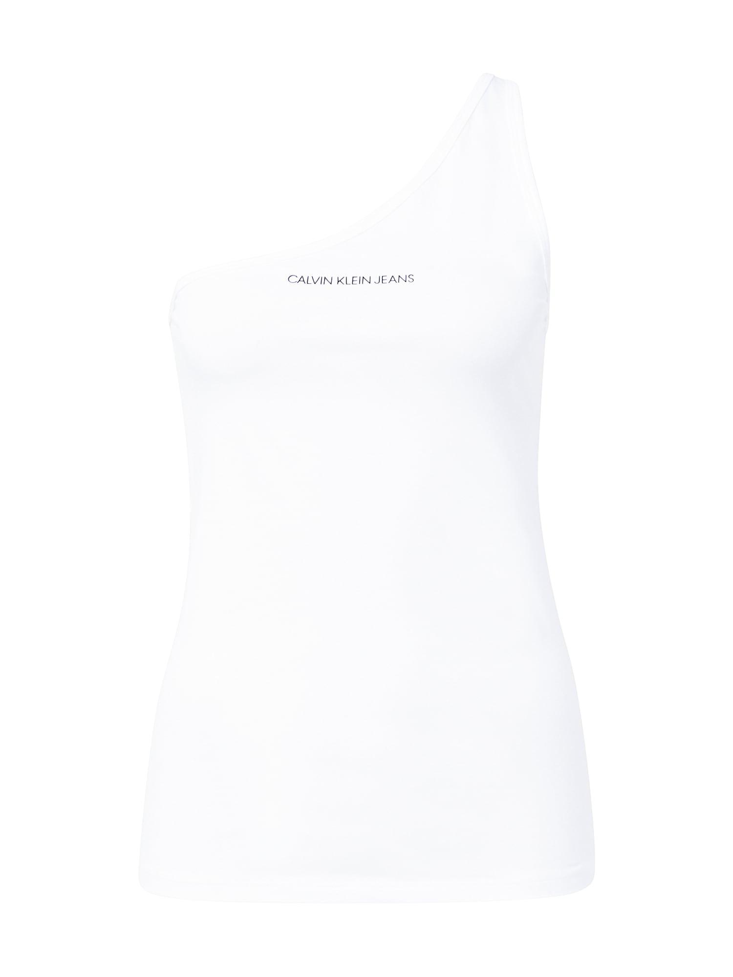 Calvin Klein Jeans Palaidinė be rankovių balta / tamsiai mėlyna