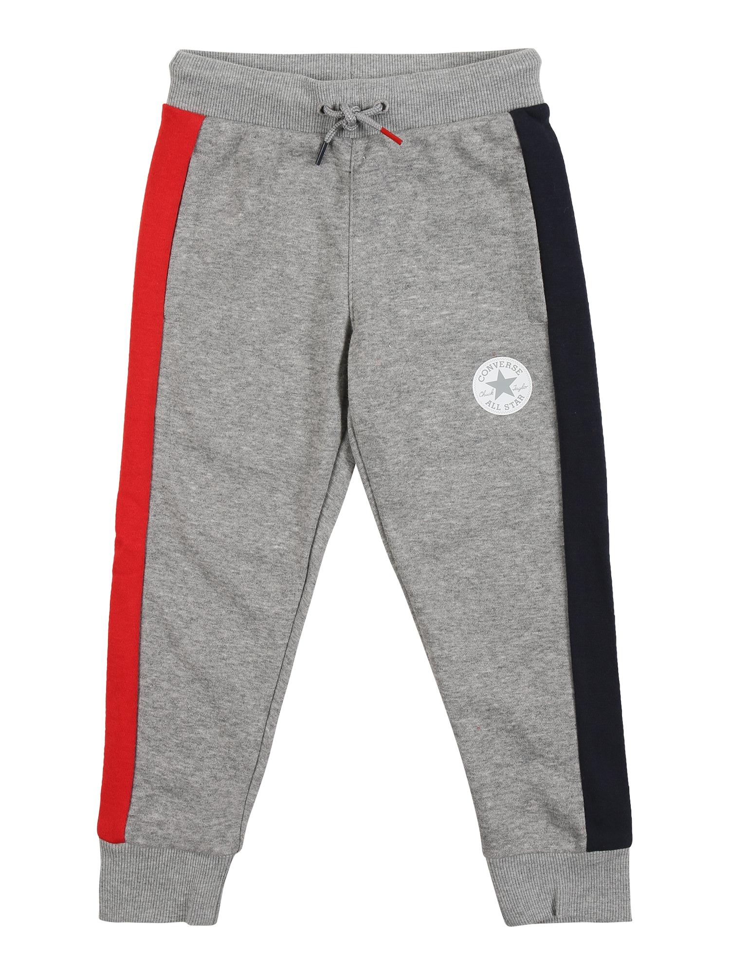 CONVERSE Kalhoty  šedý melír / červená / námořnická modř