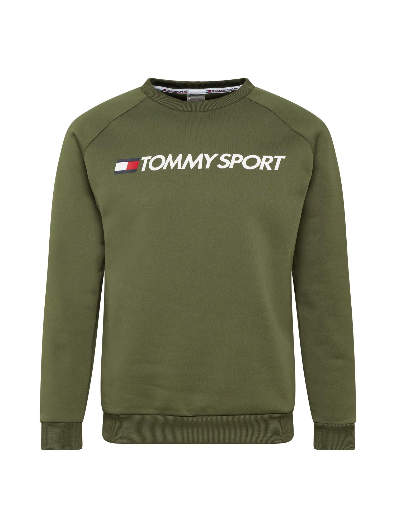 Tommy Sport Sportovní mikina  khaki