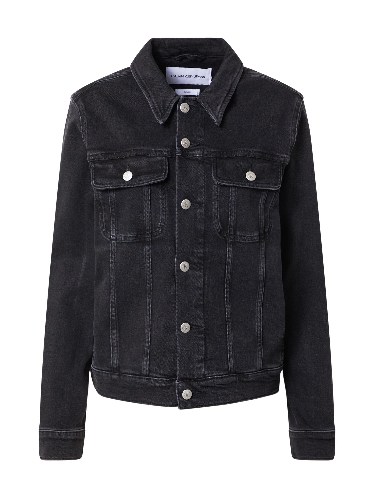 Calvin Klein Jeans Demisezoninė striukė juodo džinso spalva