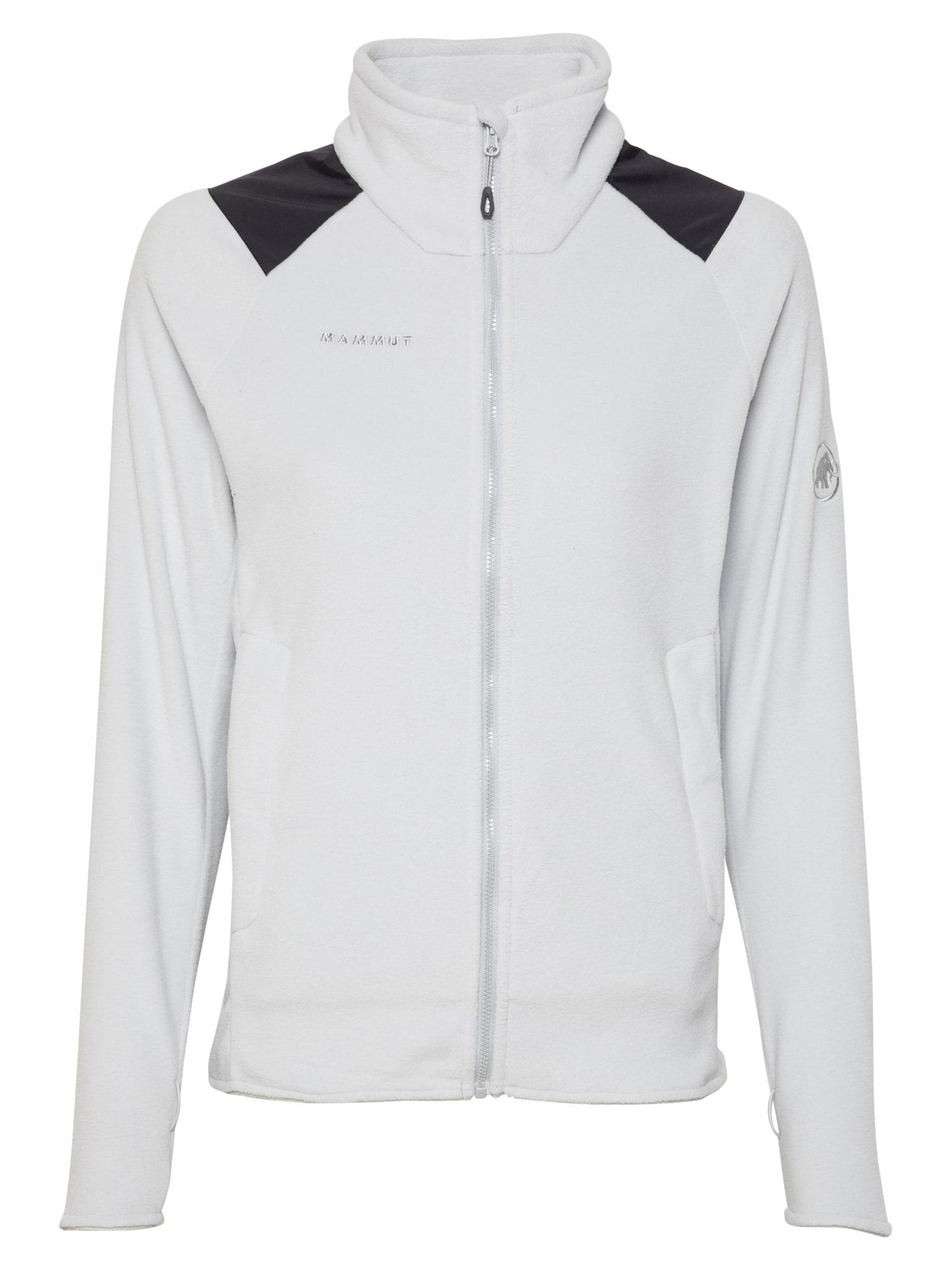 MAMMUT Funkcinis flisinis džemperis šviesiai pilka / juoda