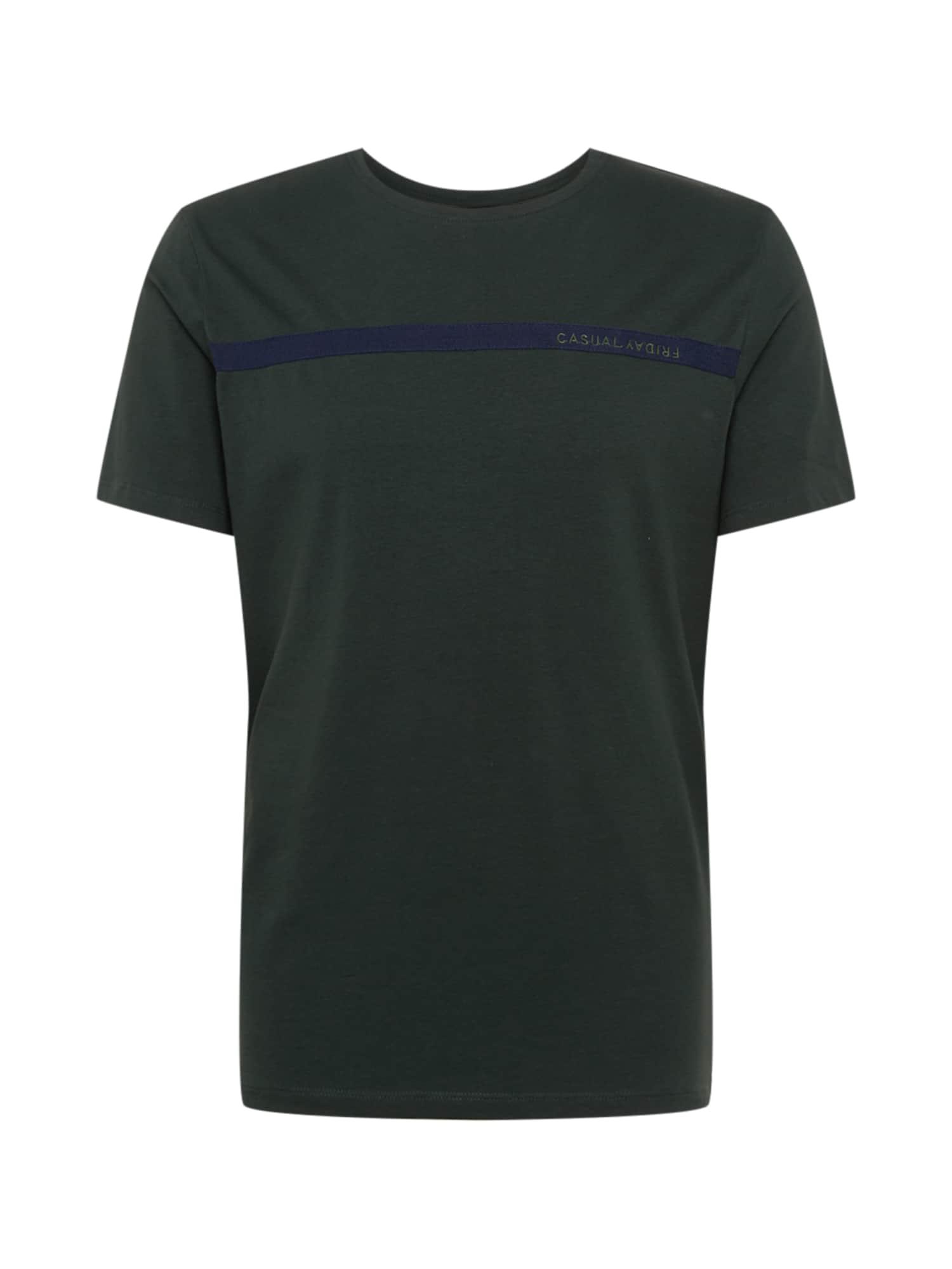 Casual Friday Marškinėliai tamsiai žalia / tamsiai mėlyna