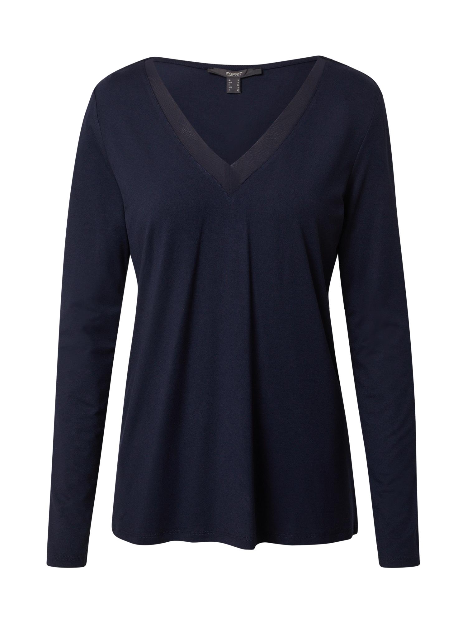 Esprit Collection Marškinėliai tamsiai mėlyna