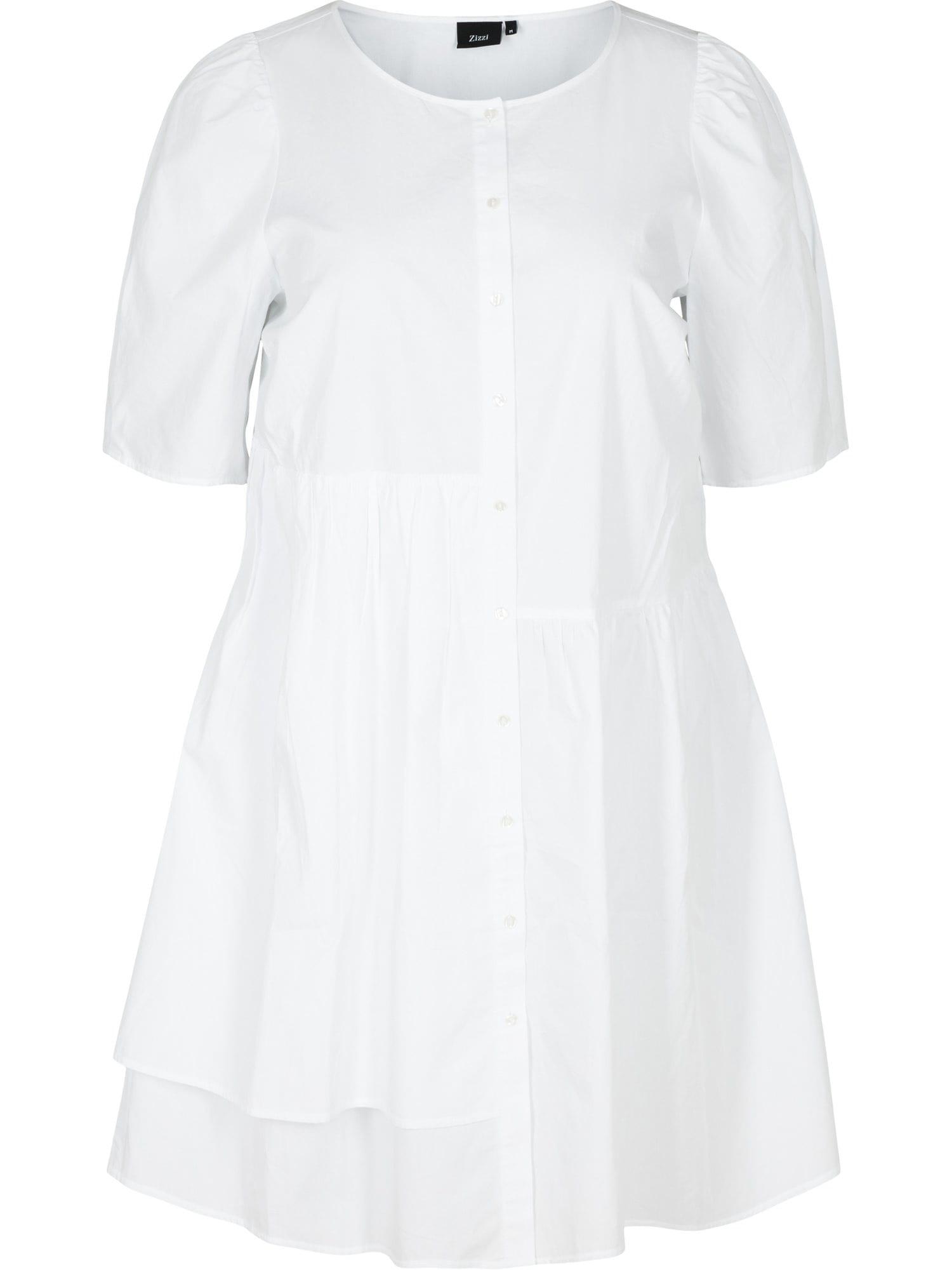 Zizzi Košilové šaty 'Ehelena'  bílá