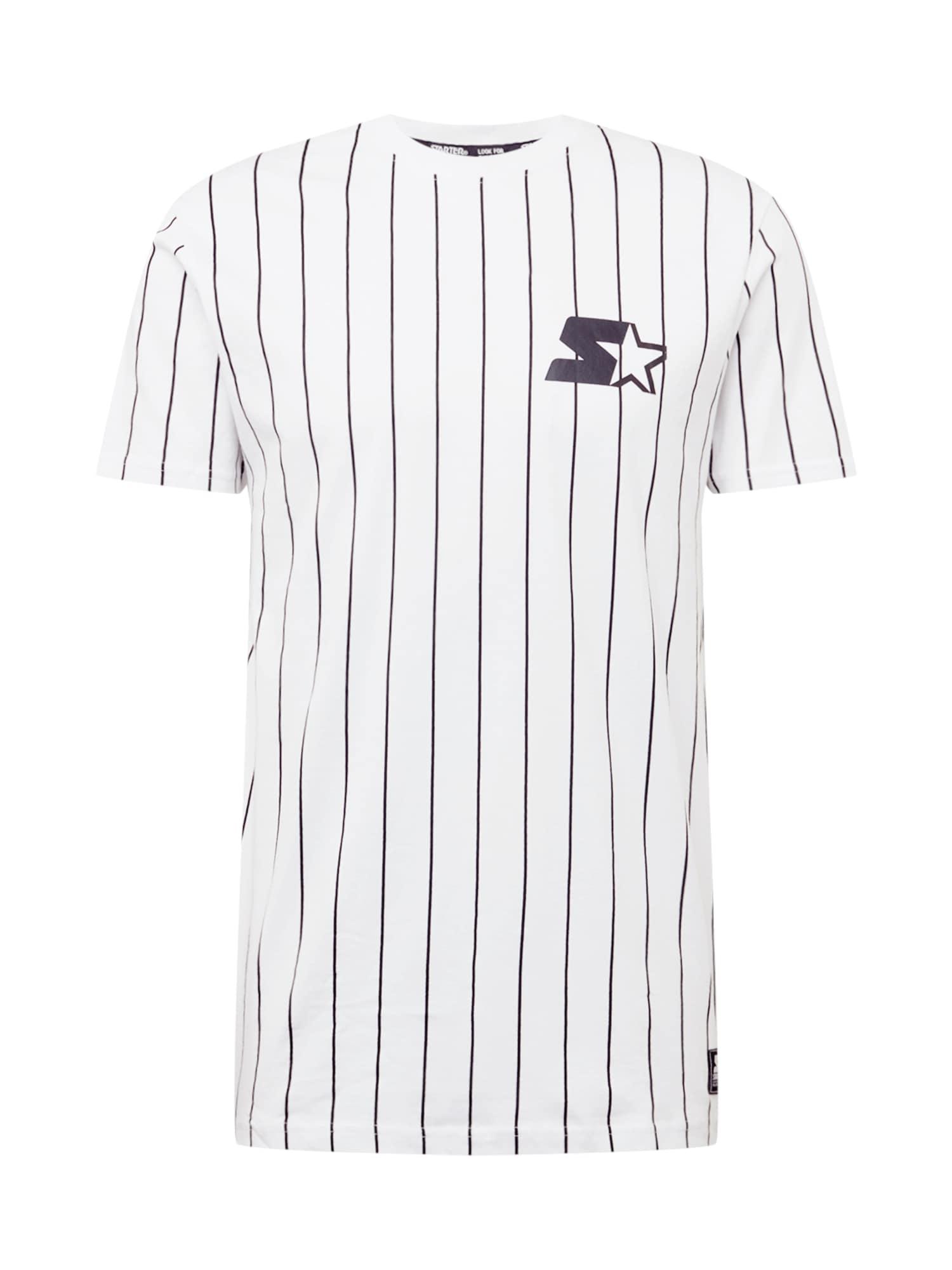 Starter Black Label Marškinėliai balta / tamsiai mėlyna jūros spalva