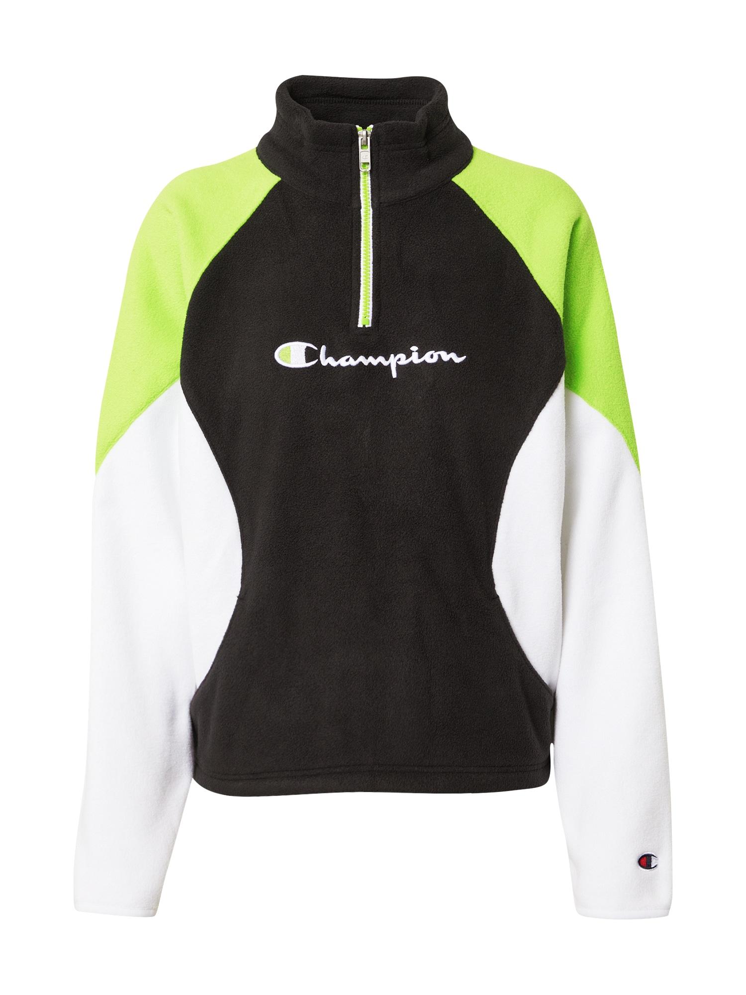 Champion Authentic Athletic Apparel Mikina  zelená / černá / bílá