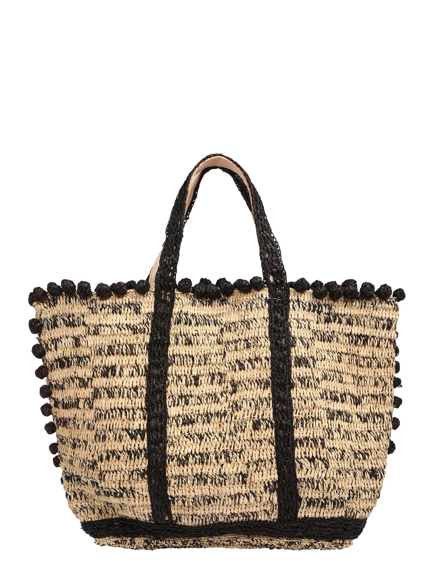 Vanessa Bruno Pirkinių krepšys glaisto spalva / juoda