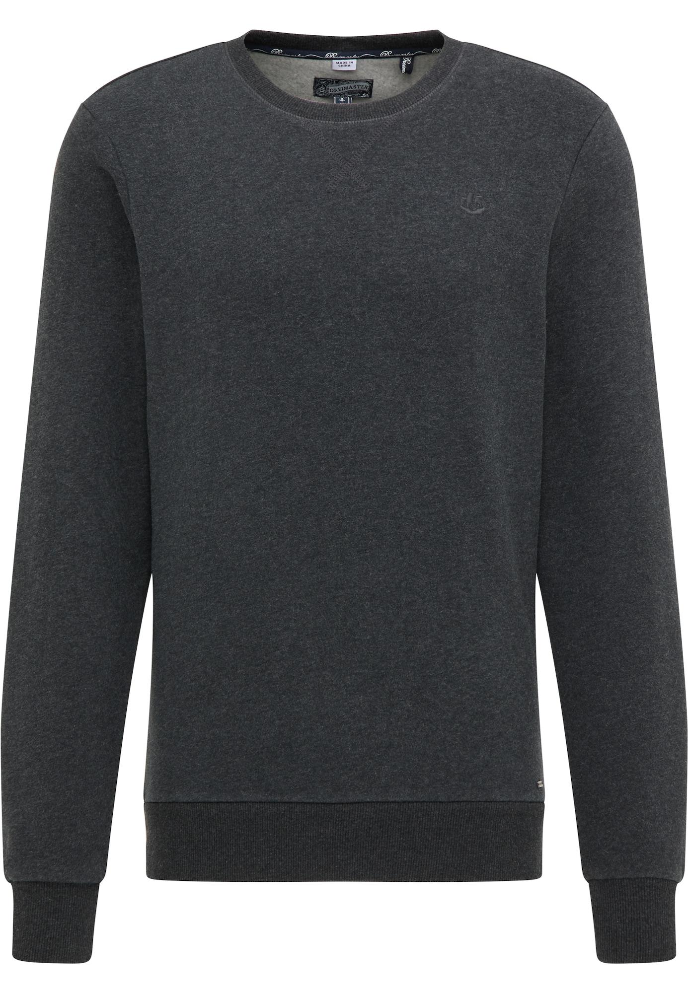 DreiMaster Vintage Megztinis be užsegimo tamsiai pilka