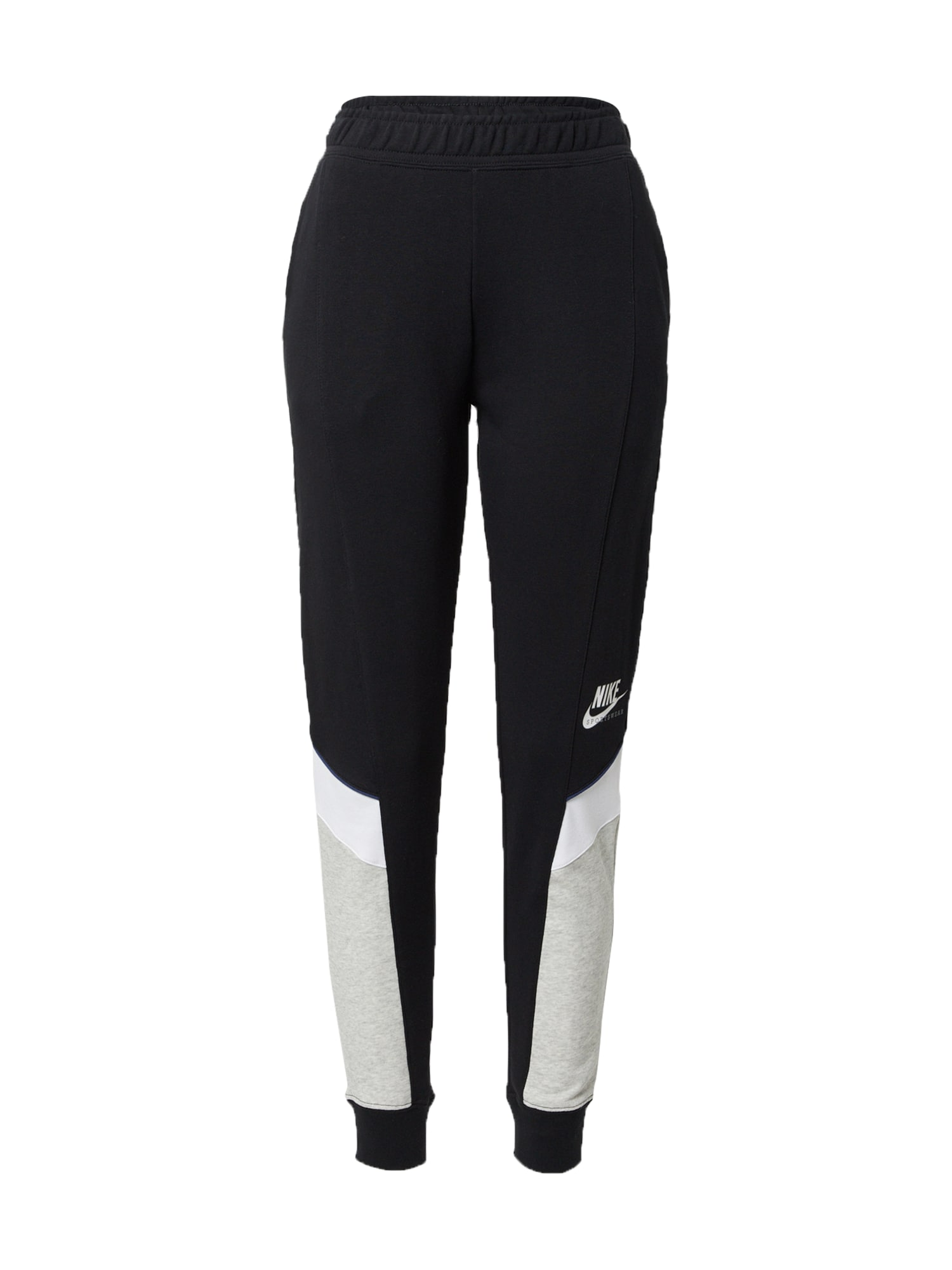 Nike Sportswear Kelnės juoda / balta / margai pilka