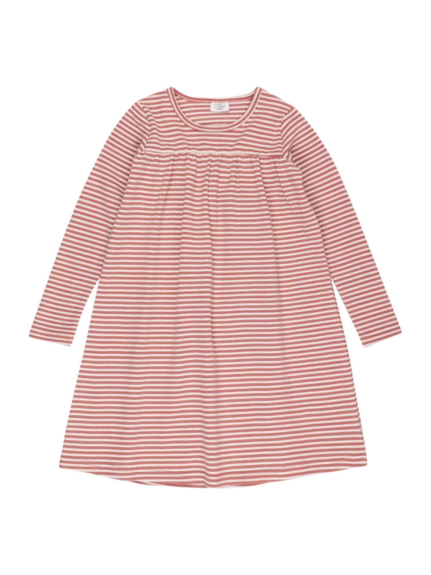 Hust & Claire Suknelė 'Dineke' ryškiai rožinė spalva / balta