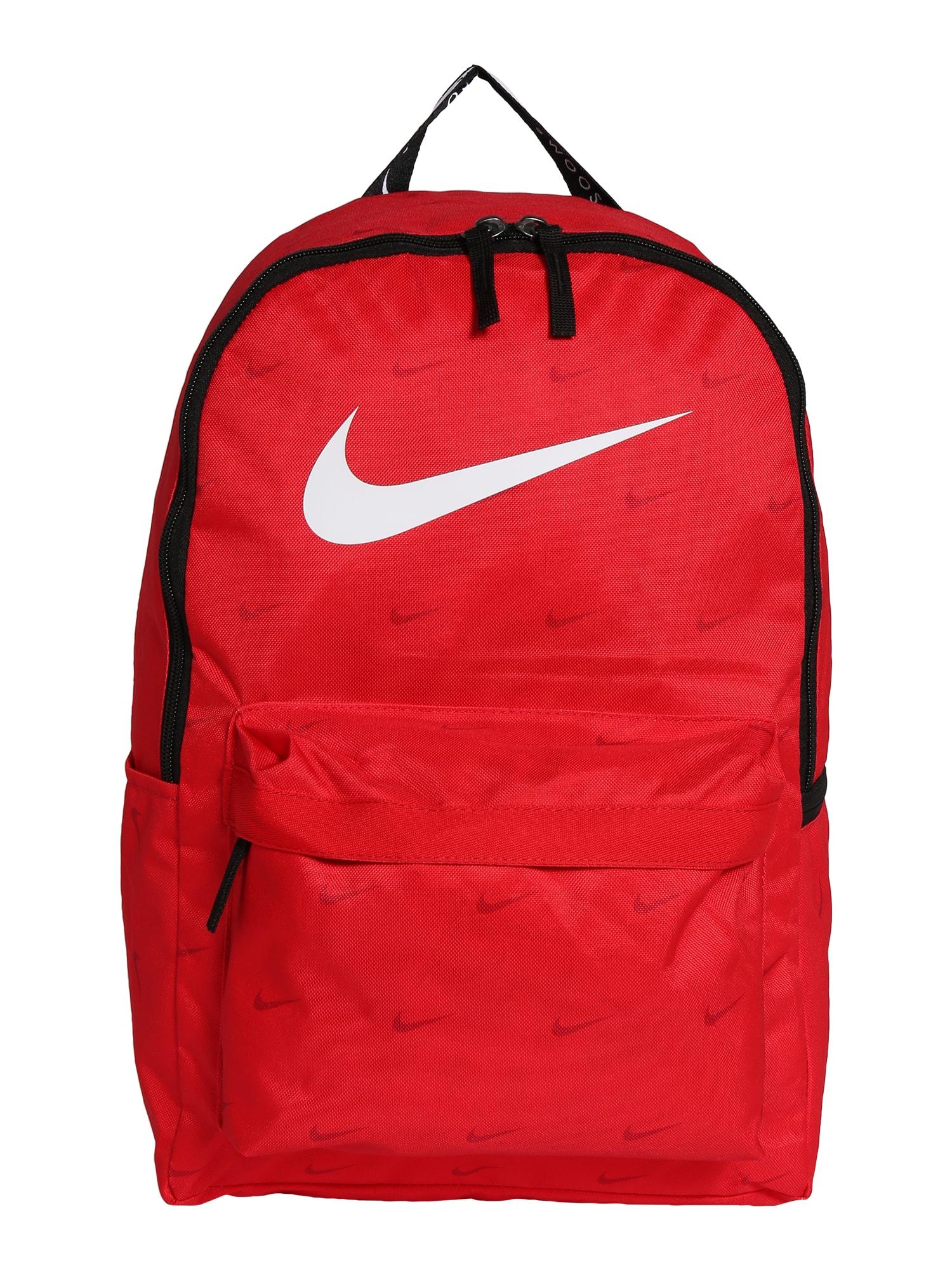 Nike Sportswear Kuprinė juoda / raudona / balta