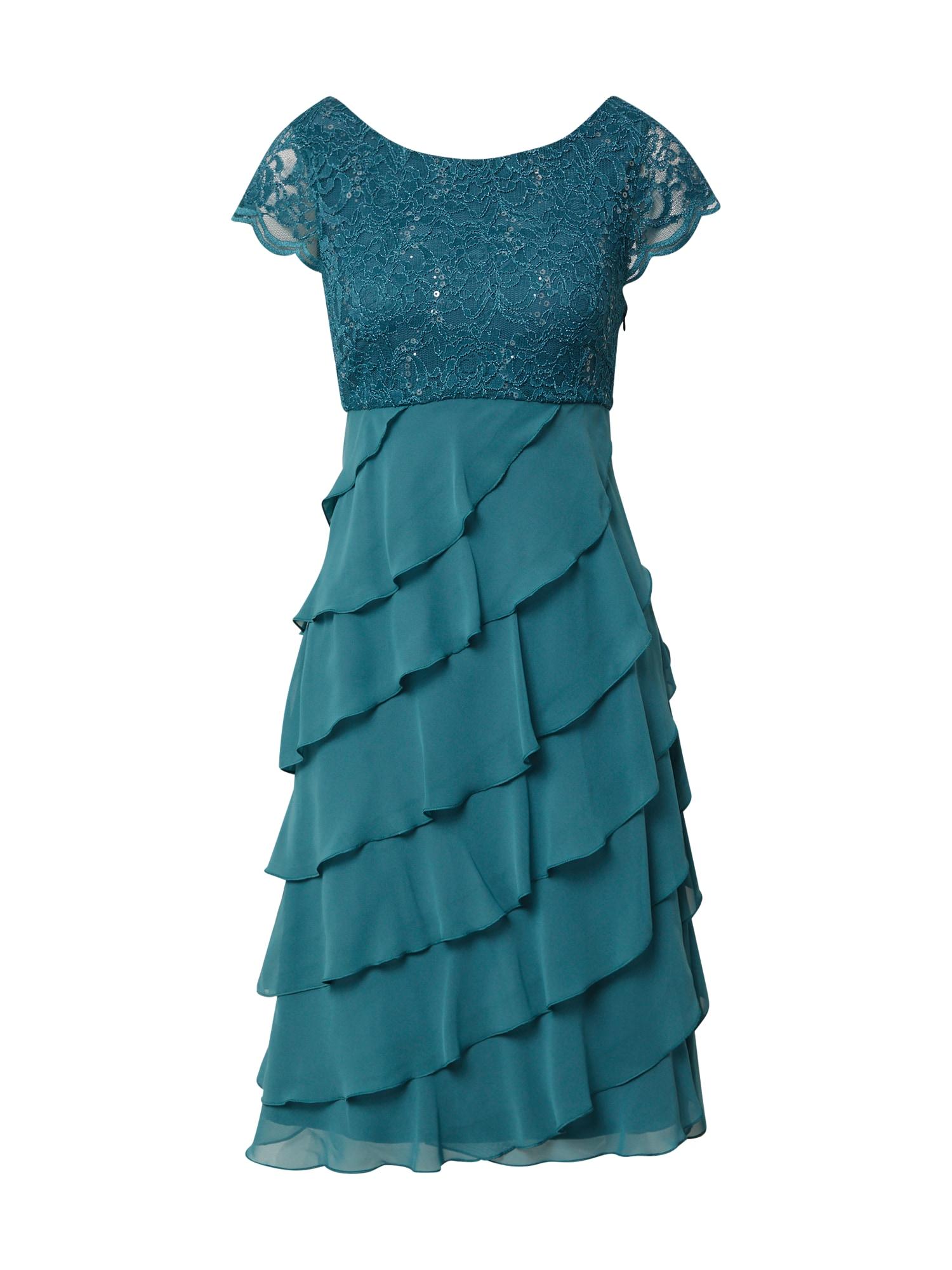 SWING Kokteilinė suknelė dangaus žydra