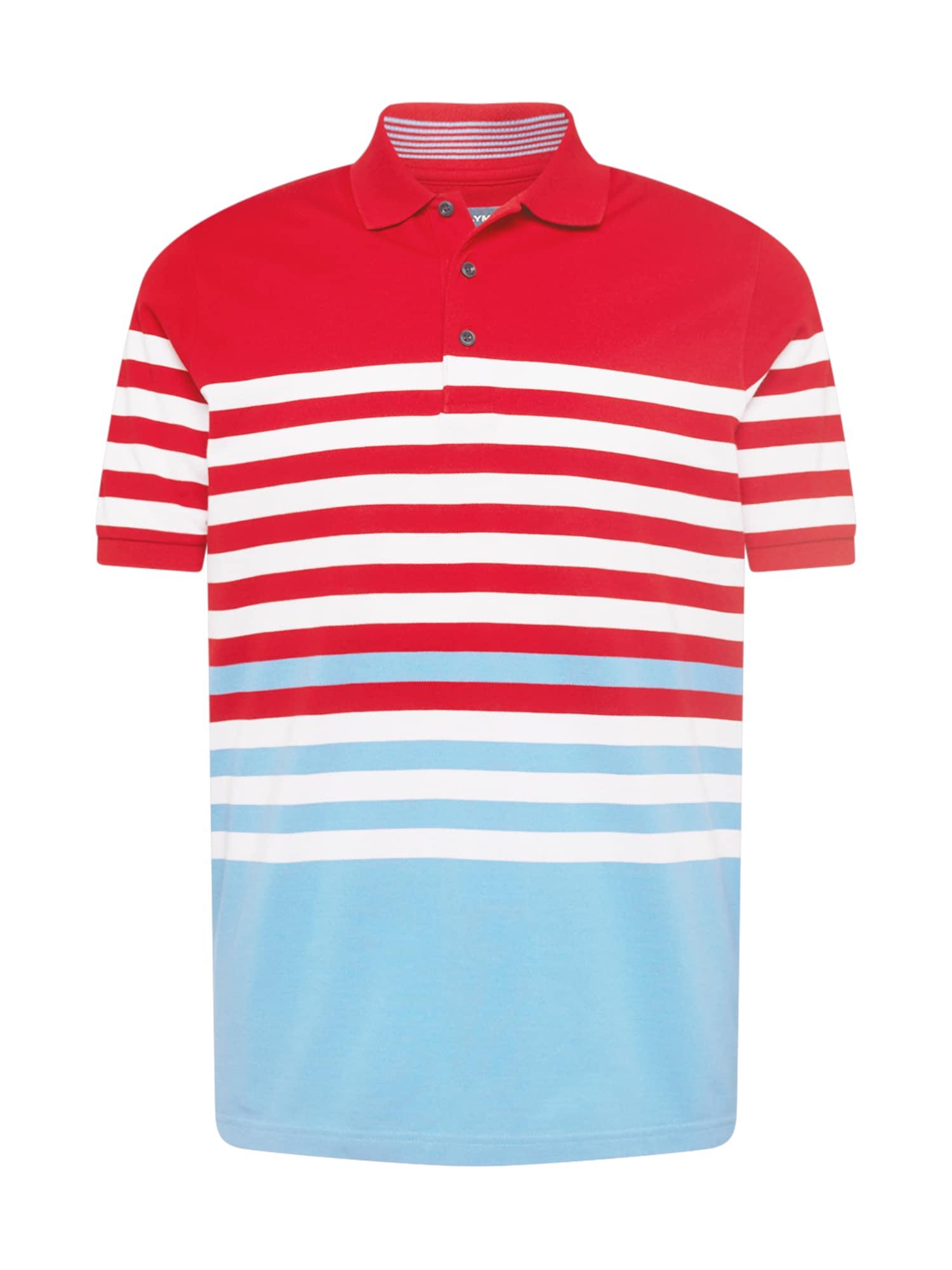 OLYMP Marškinėliai raudona / šviesiai mėlyna / balta