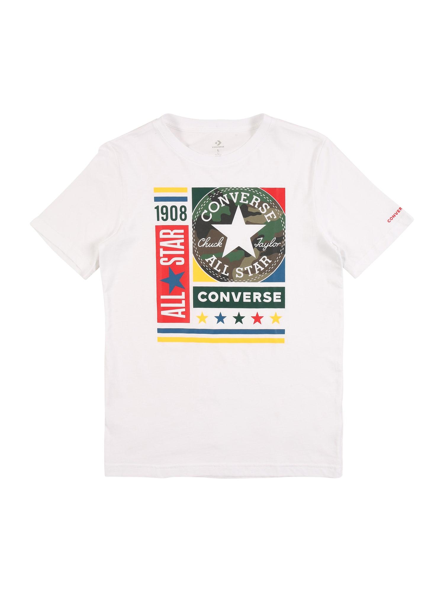 CONVERSE Tričko  bílá / mix barev