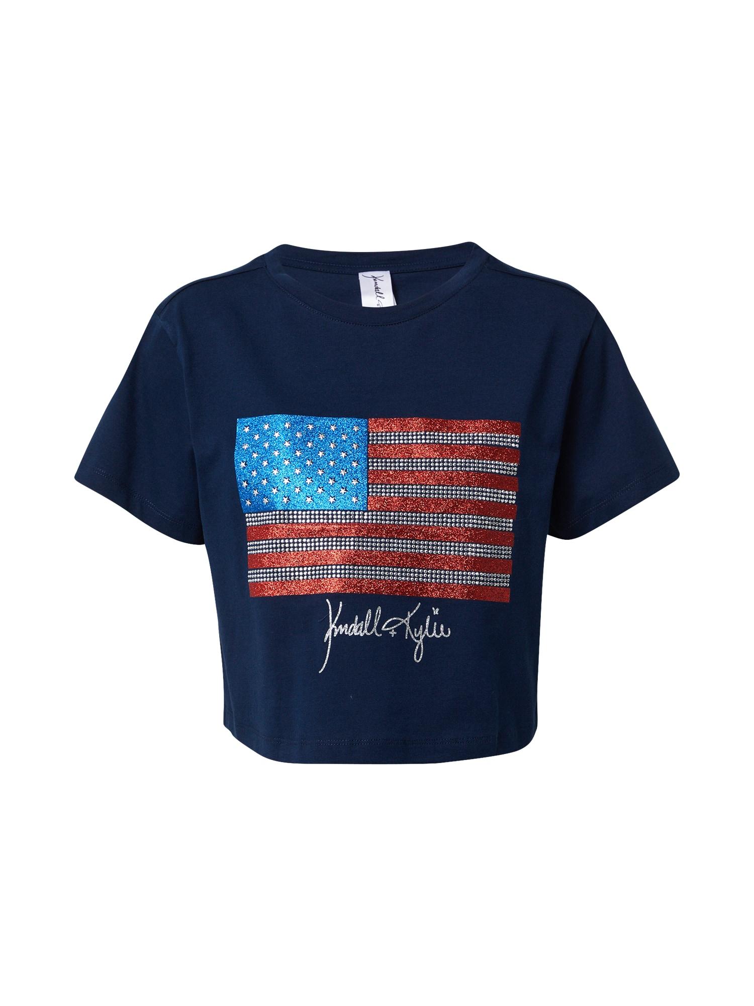 KENDALL + KYLIE Marškinėliai tamsiai mėlyna